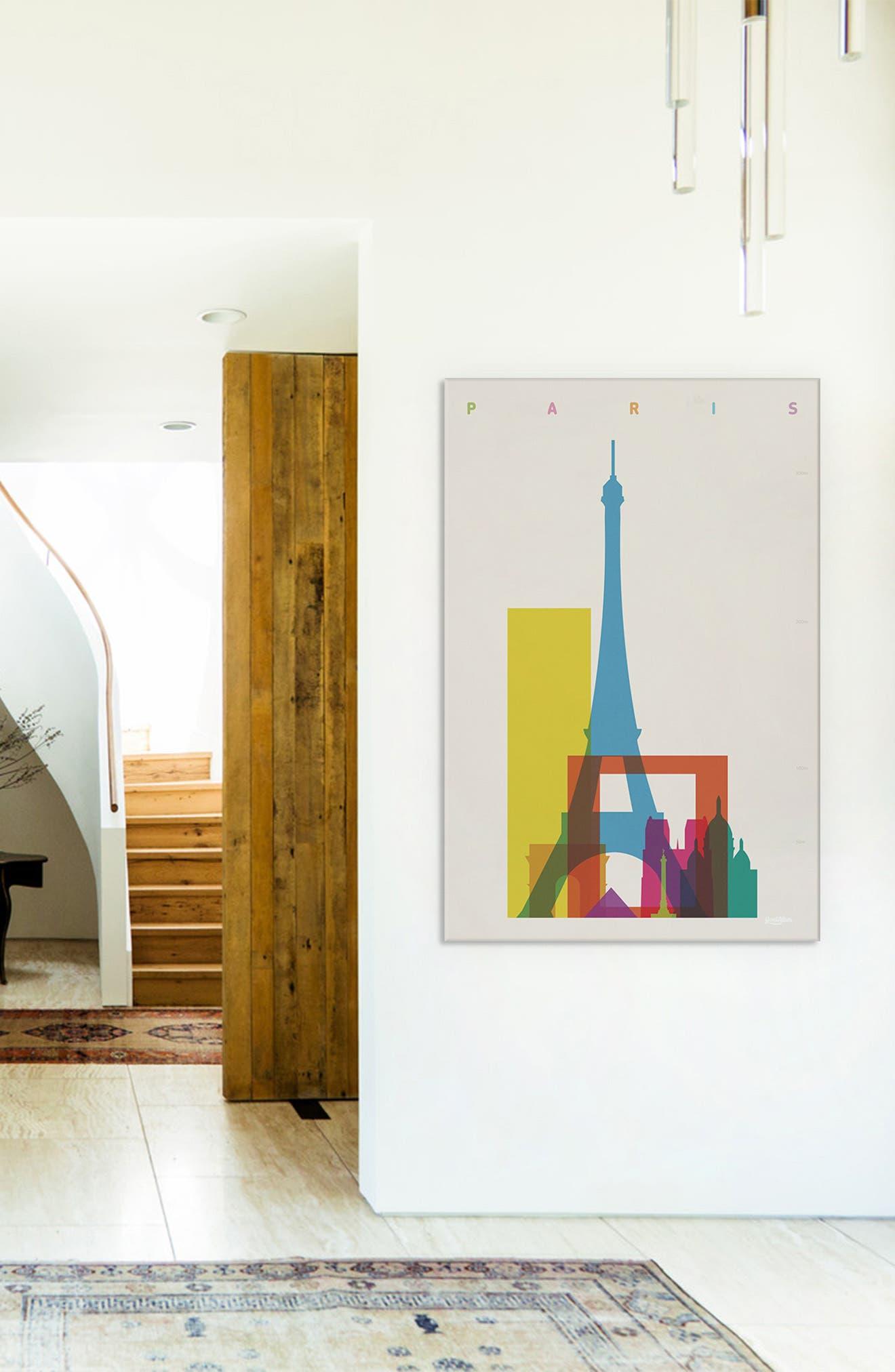 'Paris' Giclée Print Canvas Art,                             Alternate thumbnail 3, color,