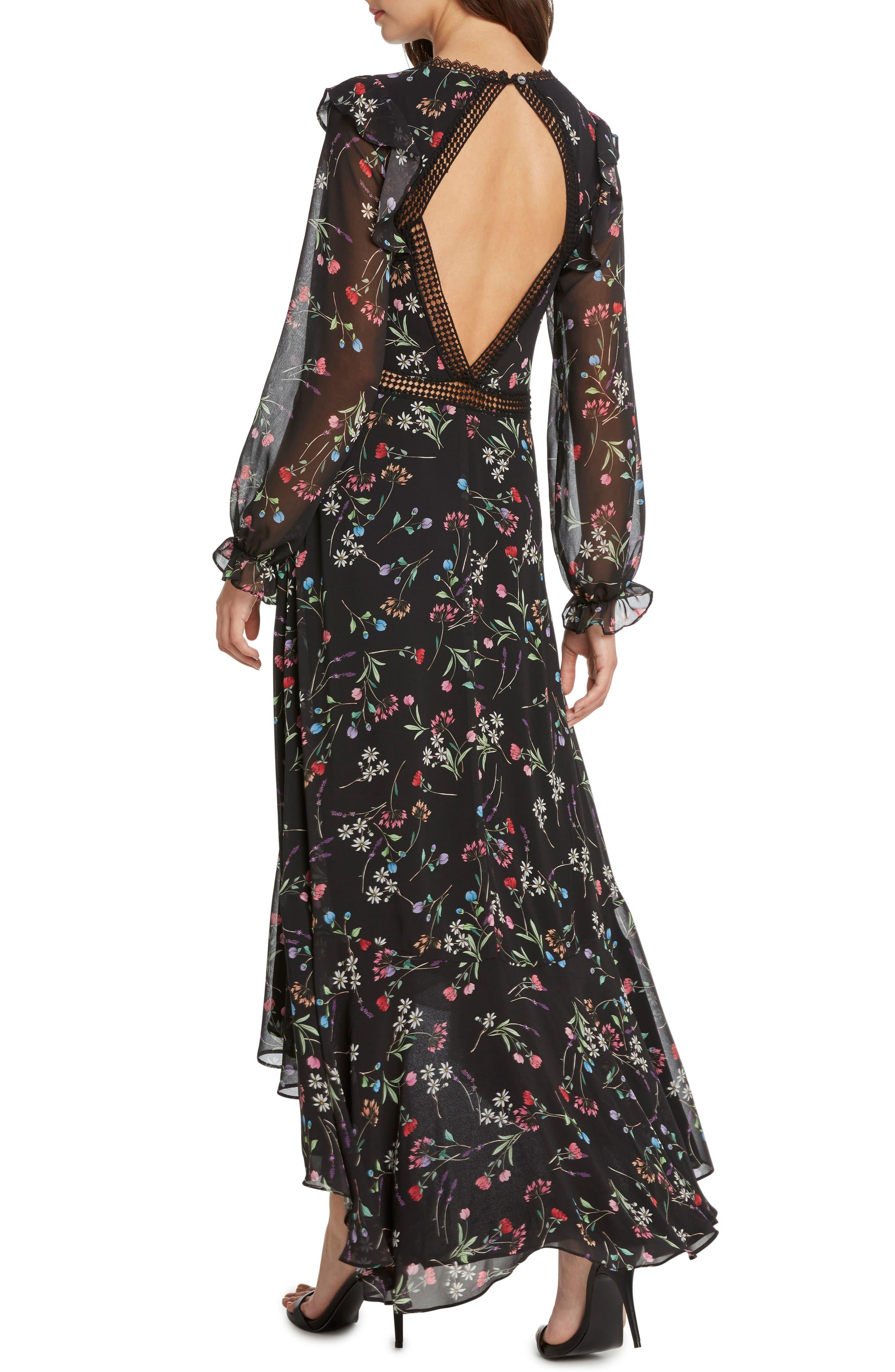 Floral Maxi Dress,                             Alternate thumbnail 2, color,                             001