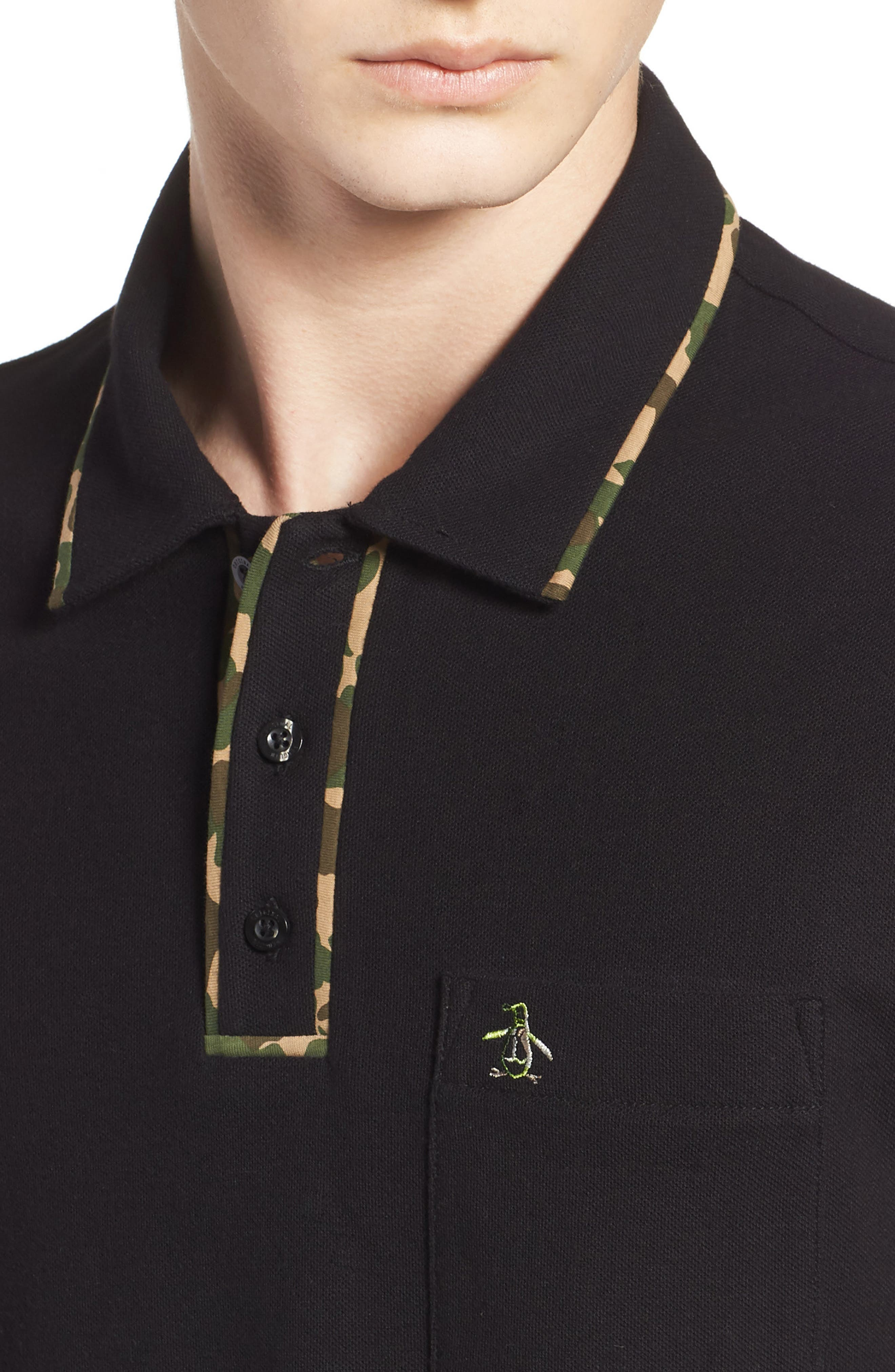 Earl Camo Trim Polo,                             Alternate thumbnail 4, color,                             010