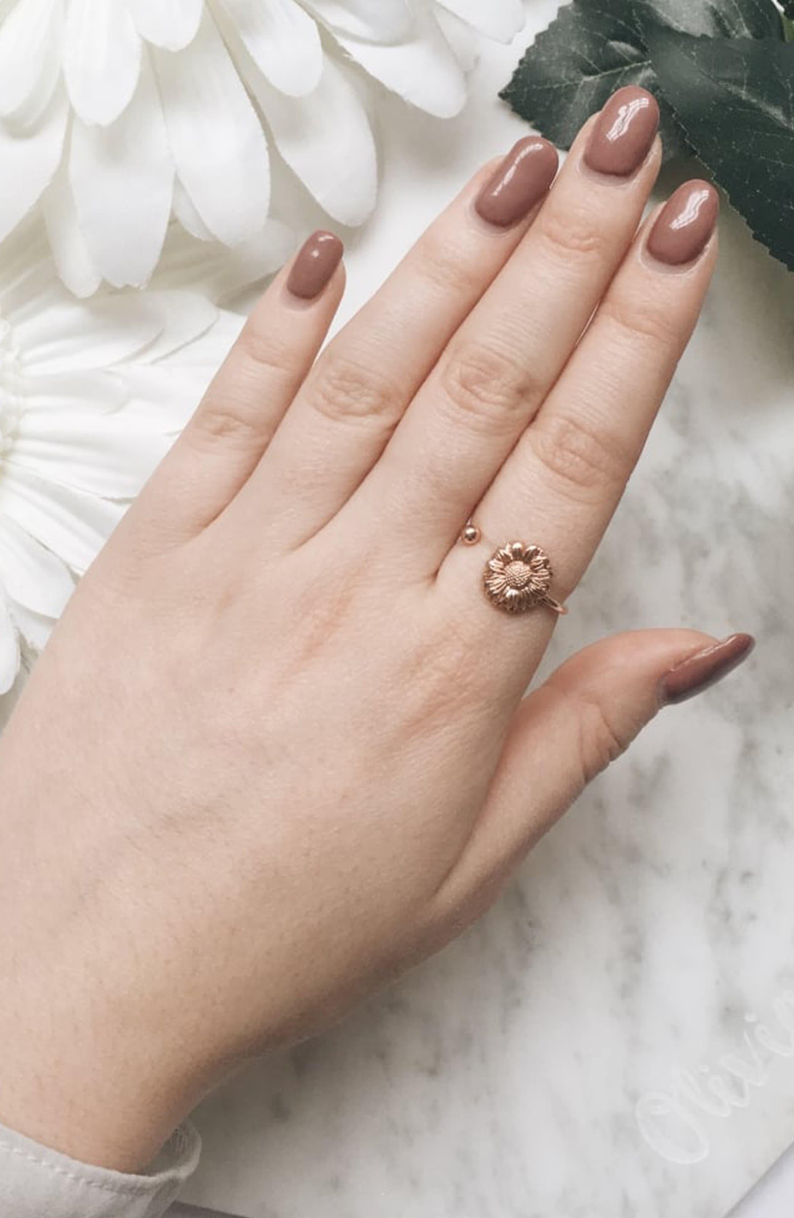 Daisy Ring,                             Alternate thumbnail 2, color,                             ROSE GOLD