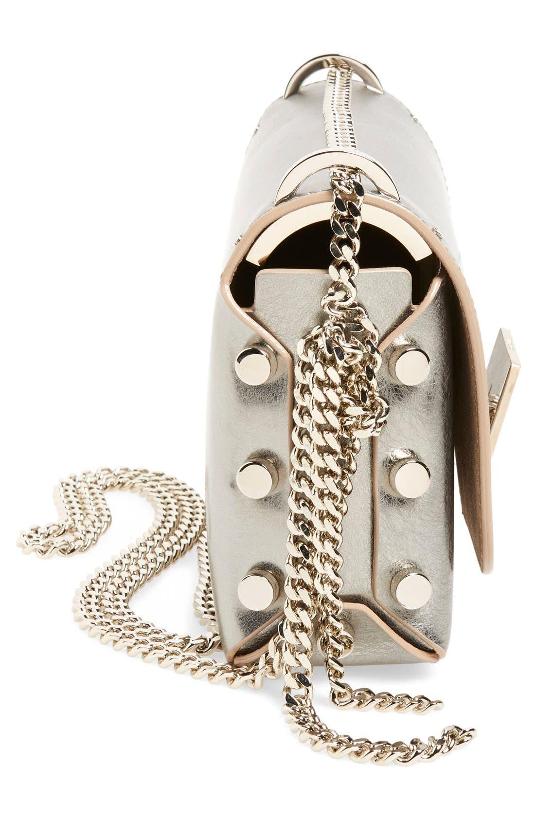 'Lockett Petite' Metallic Leather Shoulder Bag,                             Alternate thumbnail 10, color,