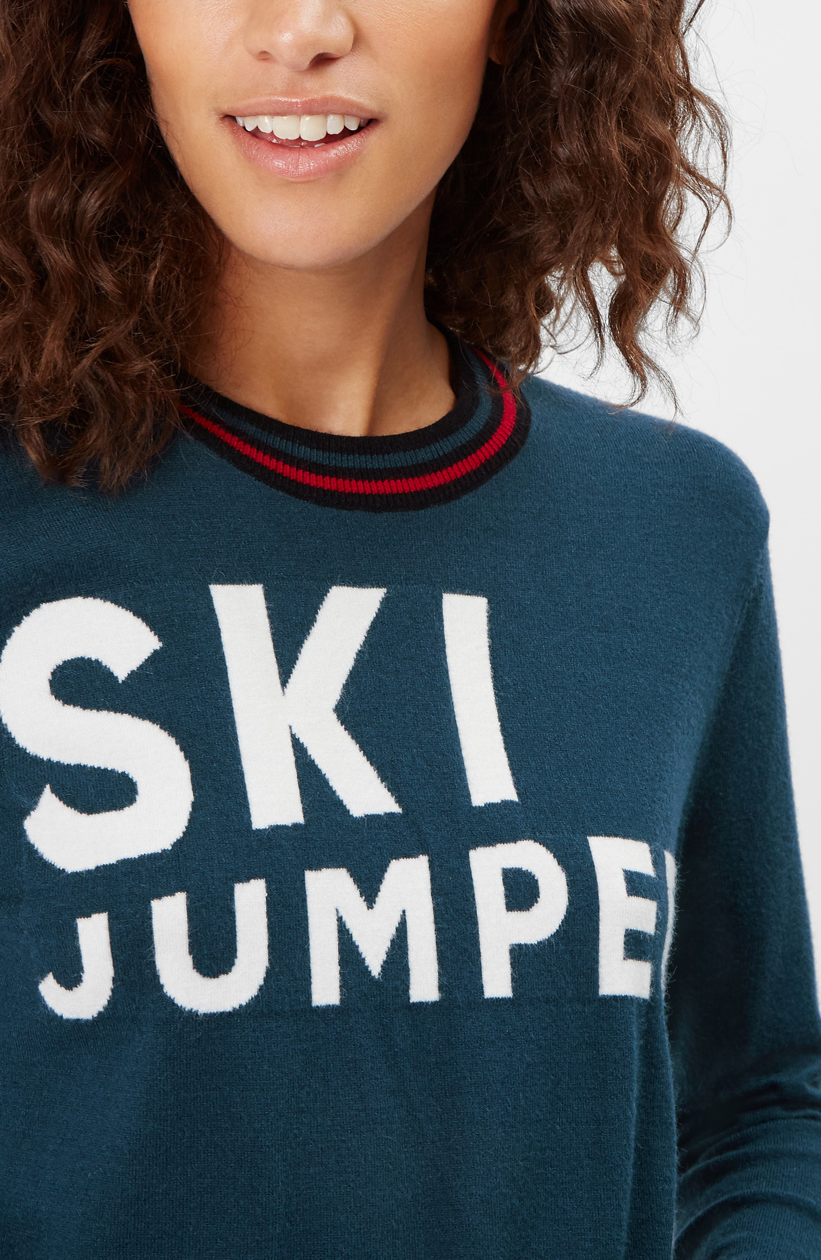 Ski Jumper Sweater,                             Alternate thumbnail 7, color,                             BEETLE BLUE