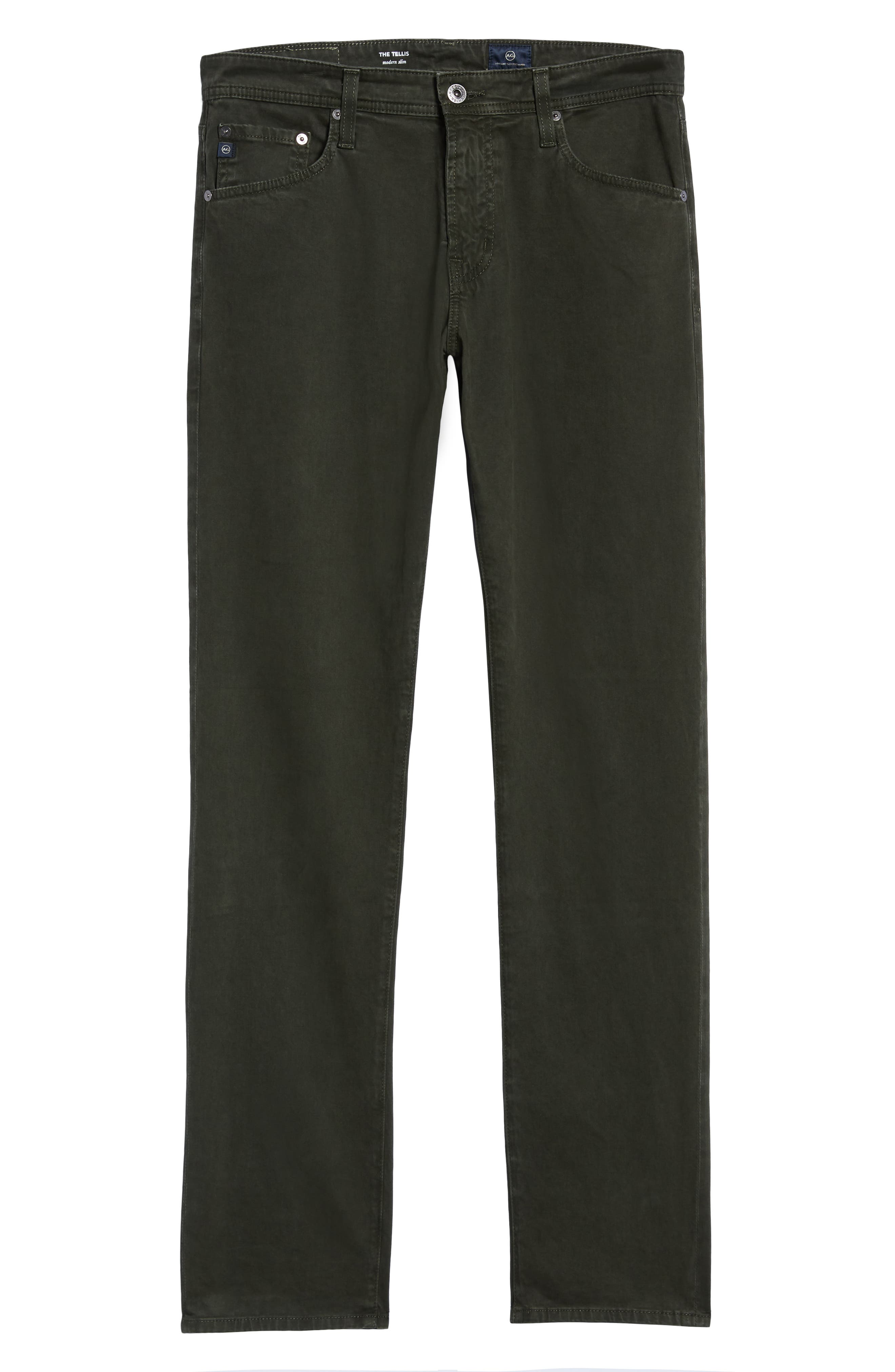 Tellis SUD Modern Slim Stretch Twill Pants,                             Alternate thumbnail 6, color,                             320