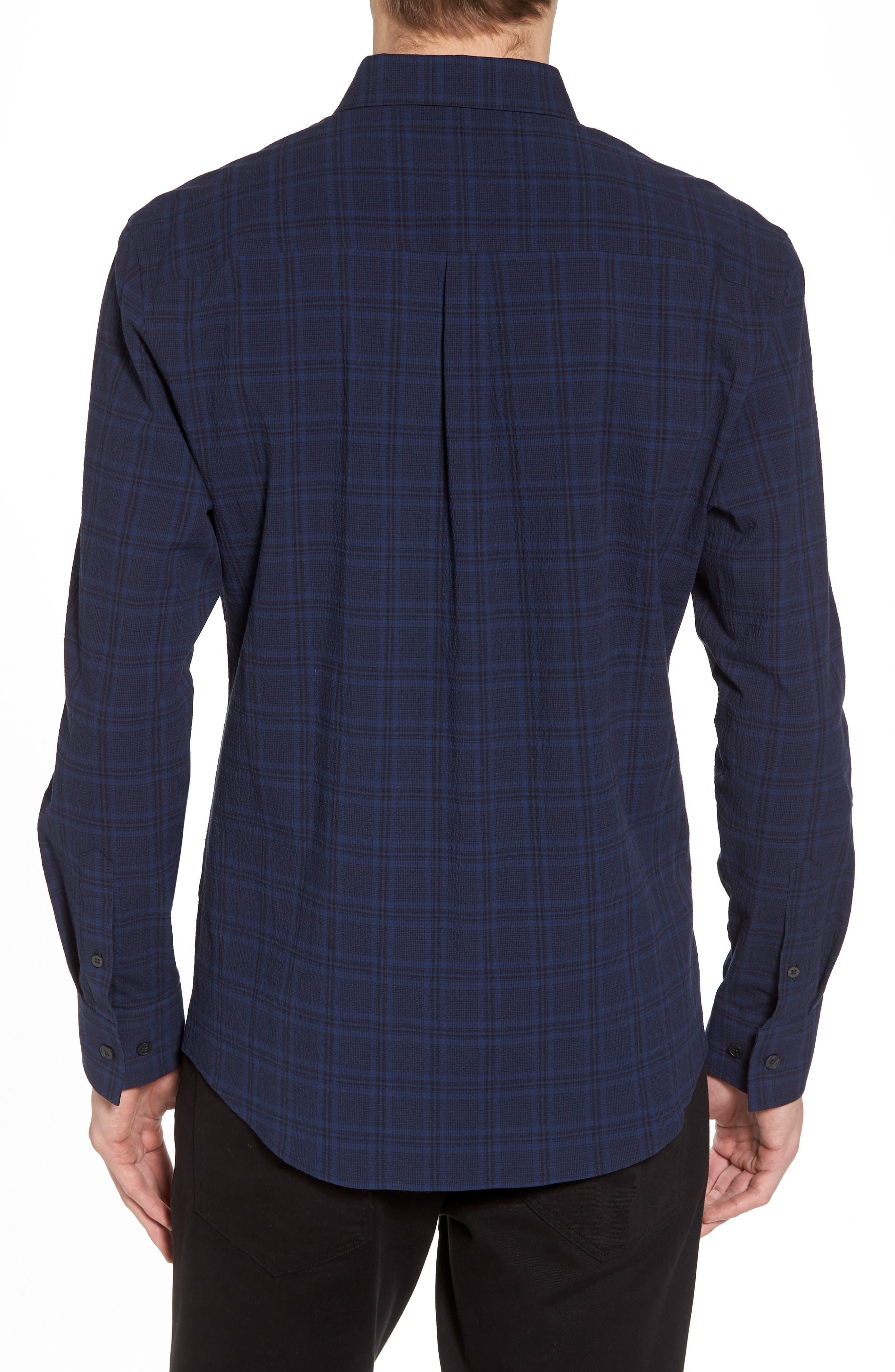 Slim Fit Plaid Stretch Sport Shirt,                             Alternate thumbnail 2, color,                             413
