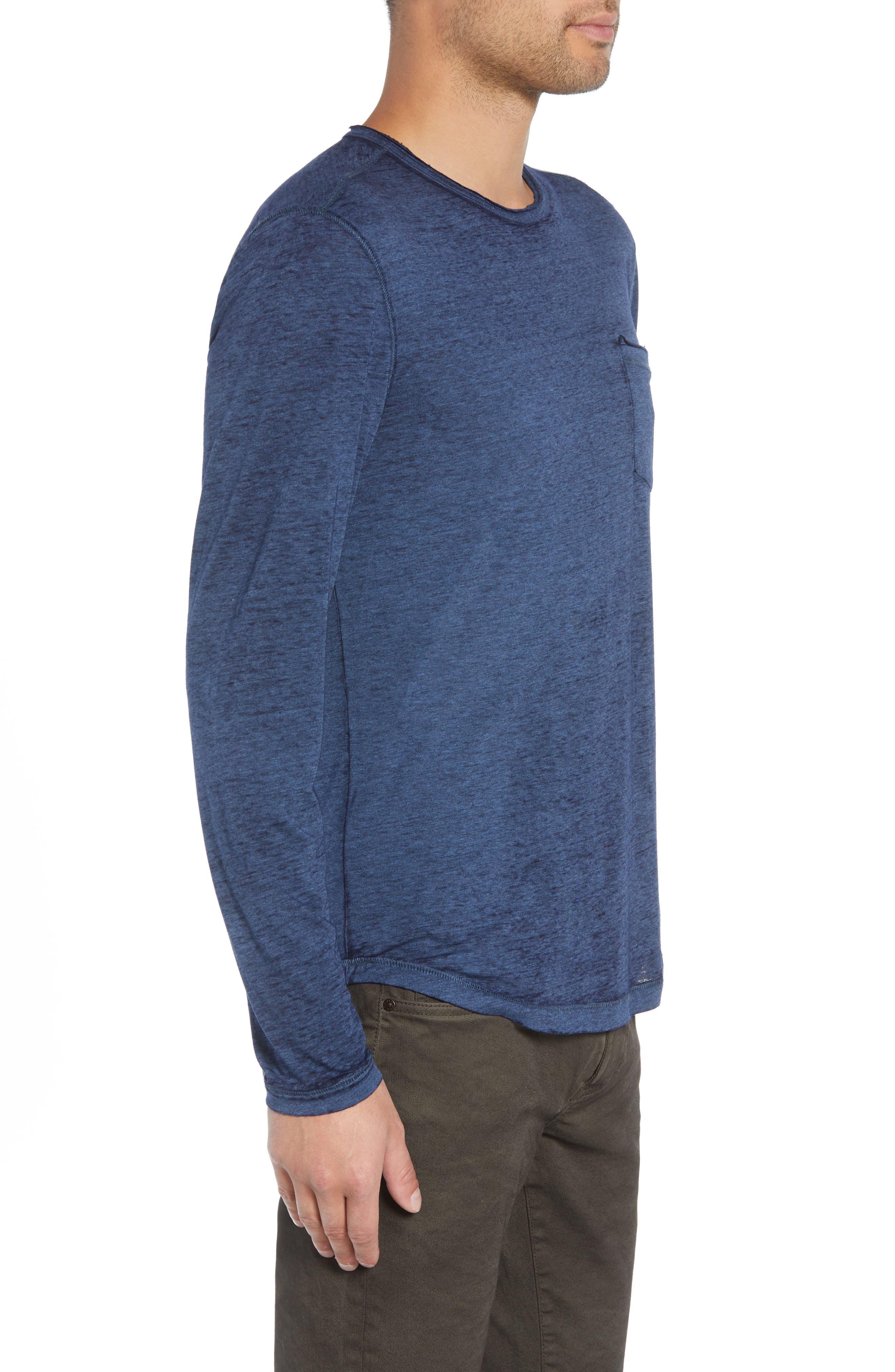Burnout Long Sleeve T-Shirt,                             Alternate thumbnail 3, color,                             410