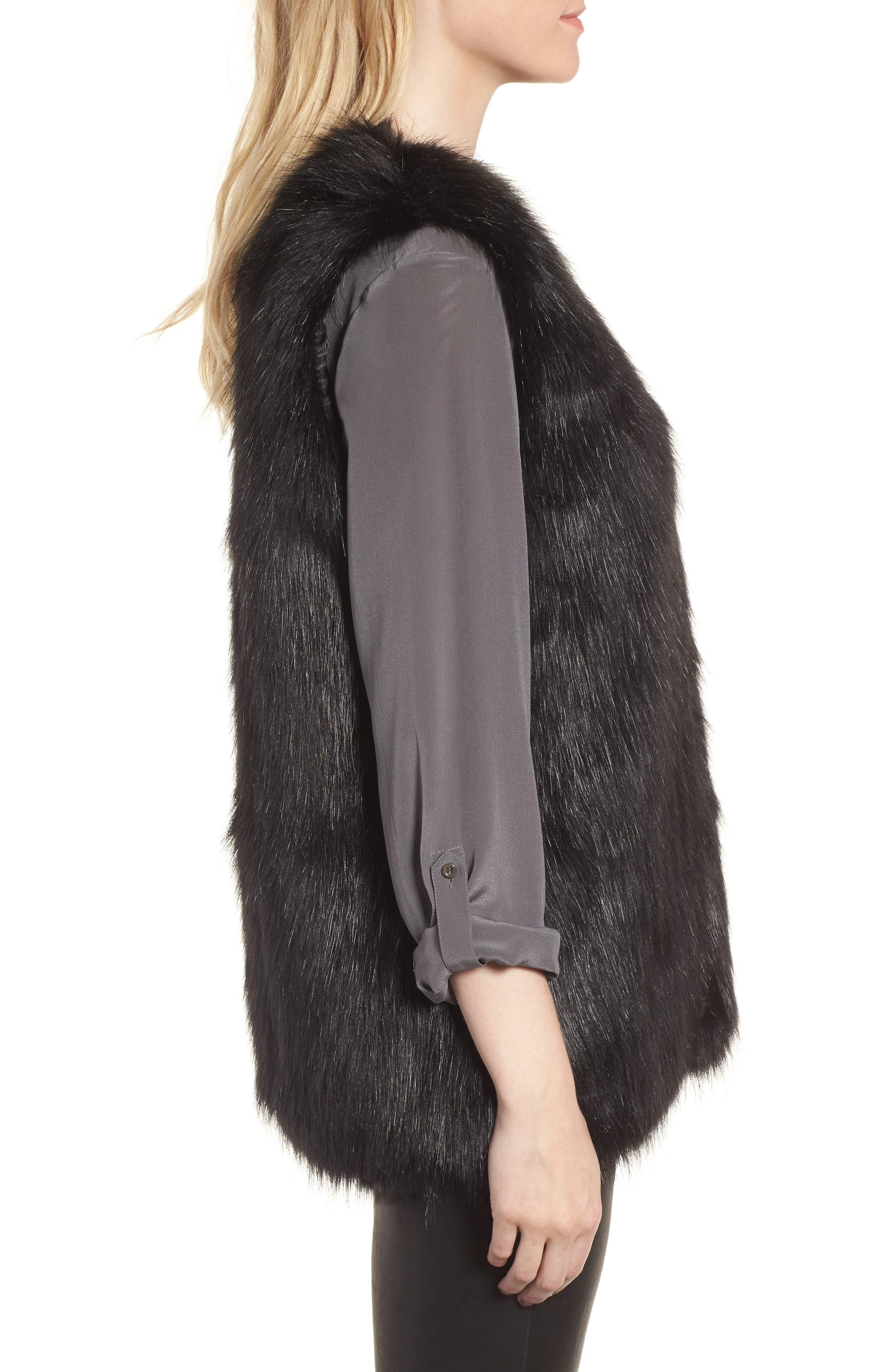Faux Fur Vest,                             Alternate thumbnail 5, color,