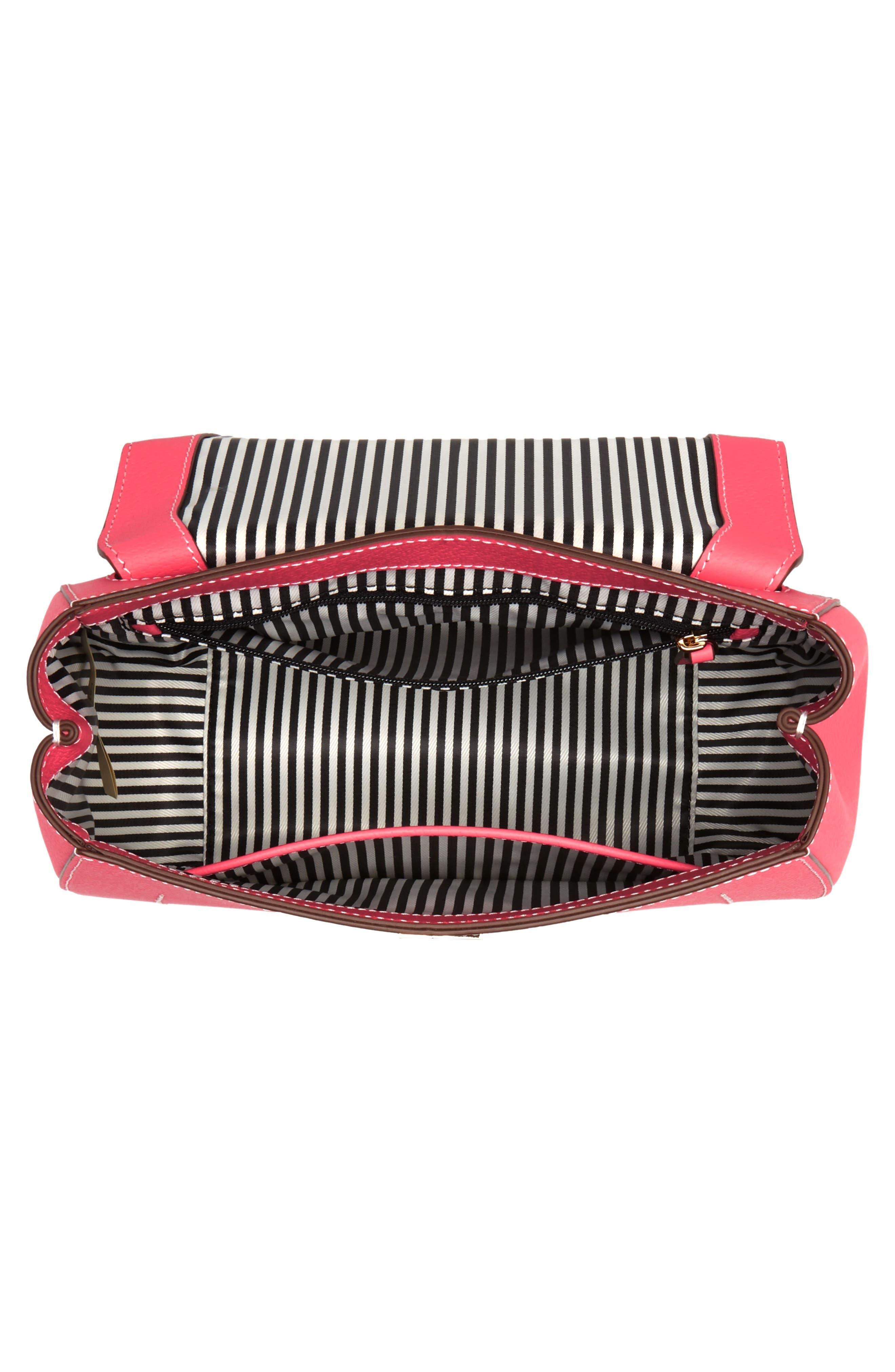 thompson street - justina leather satchel,                             Alternate thumbnail 4, color,                             650