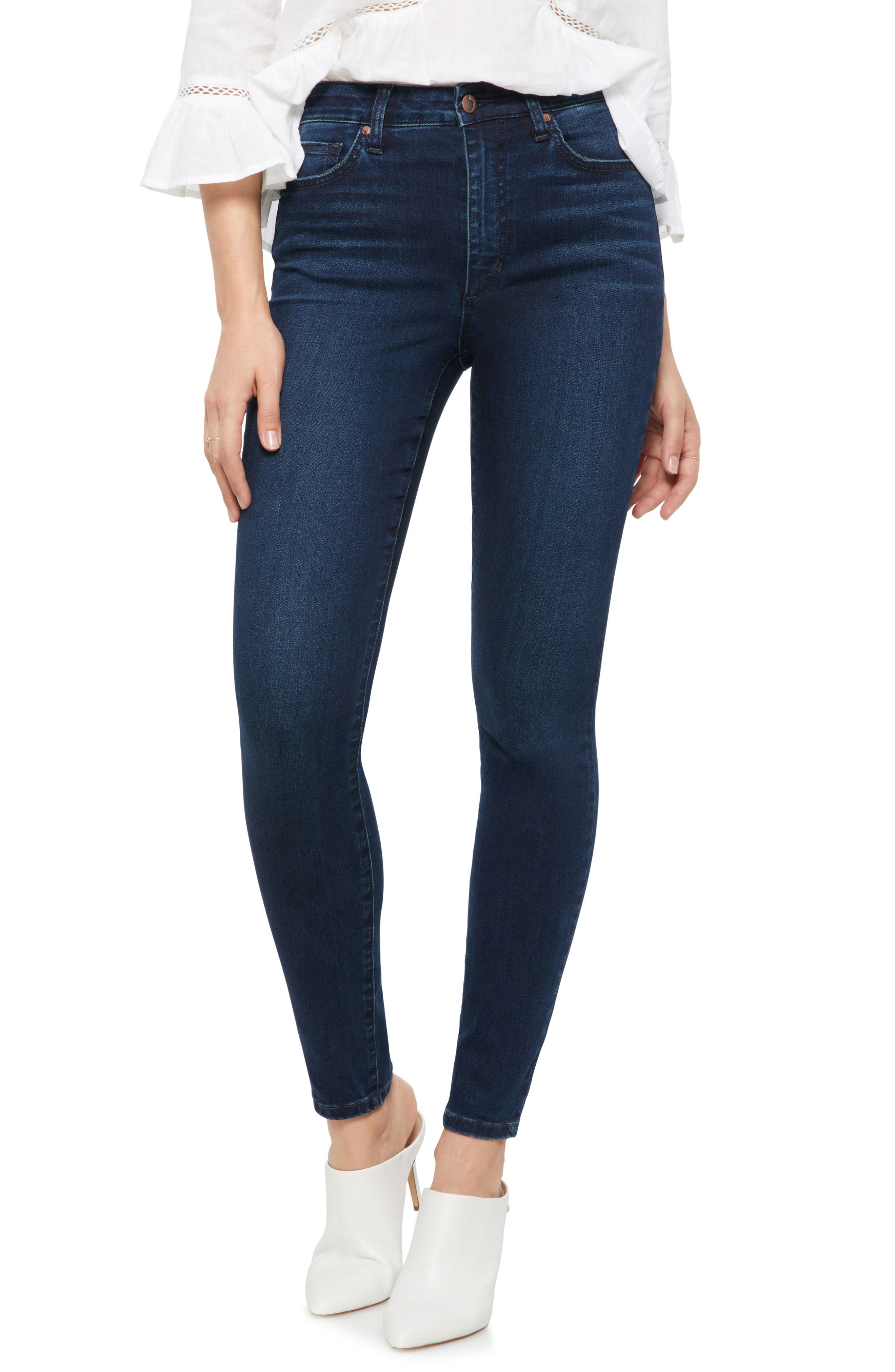 Charlie High Rise Skinny Jeans, Main, color, HOPE