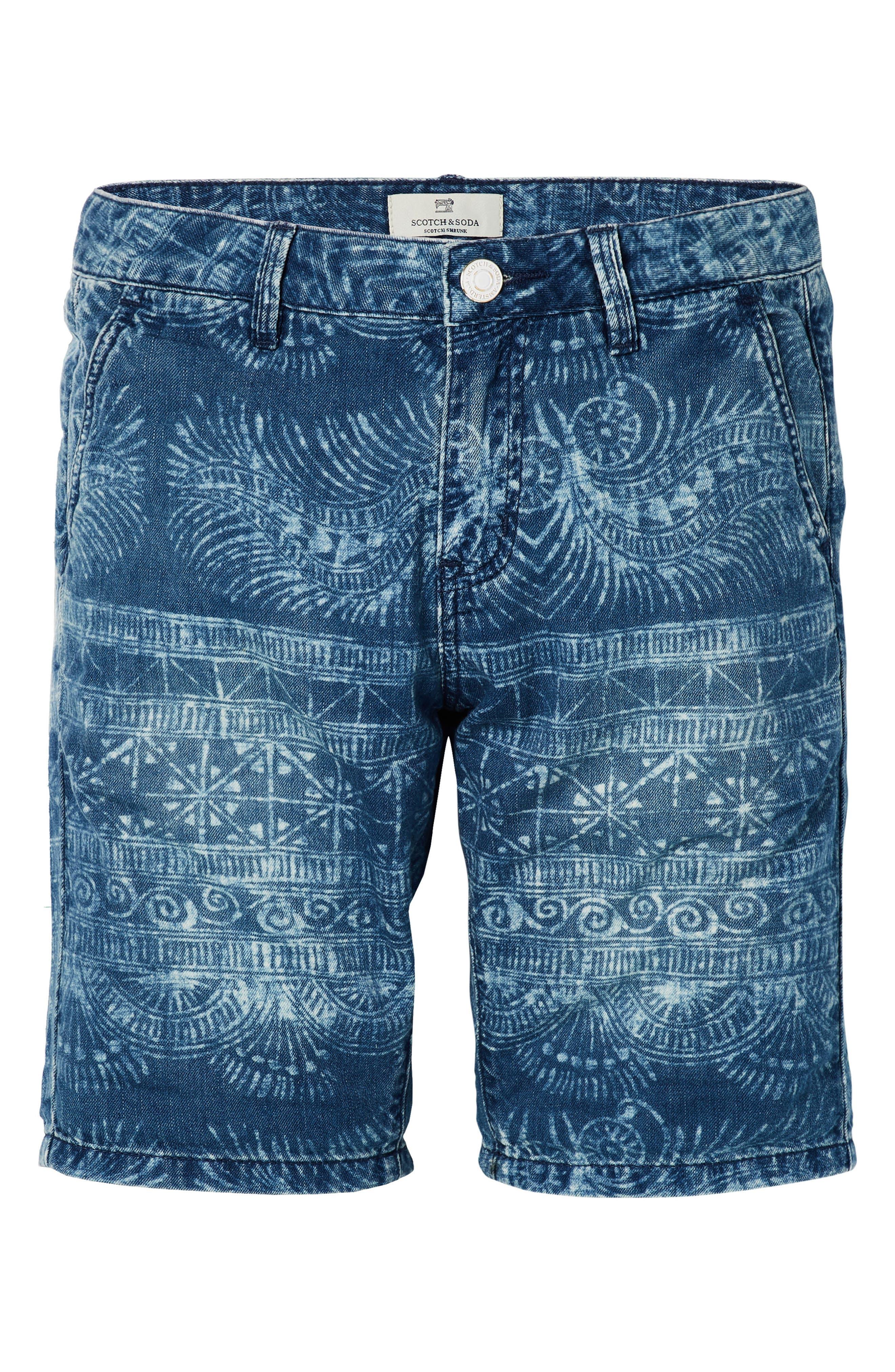 Denim Chino Shorts,                             Main thumbnail 1, color,                             400