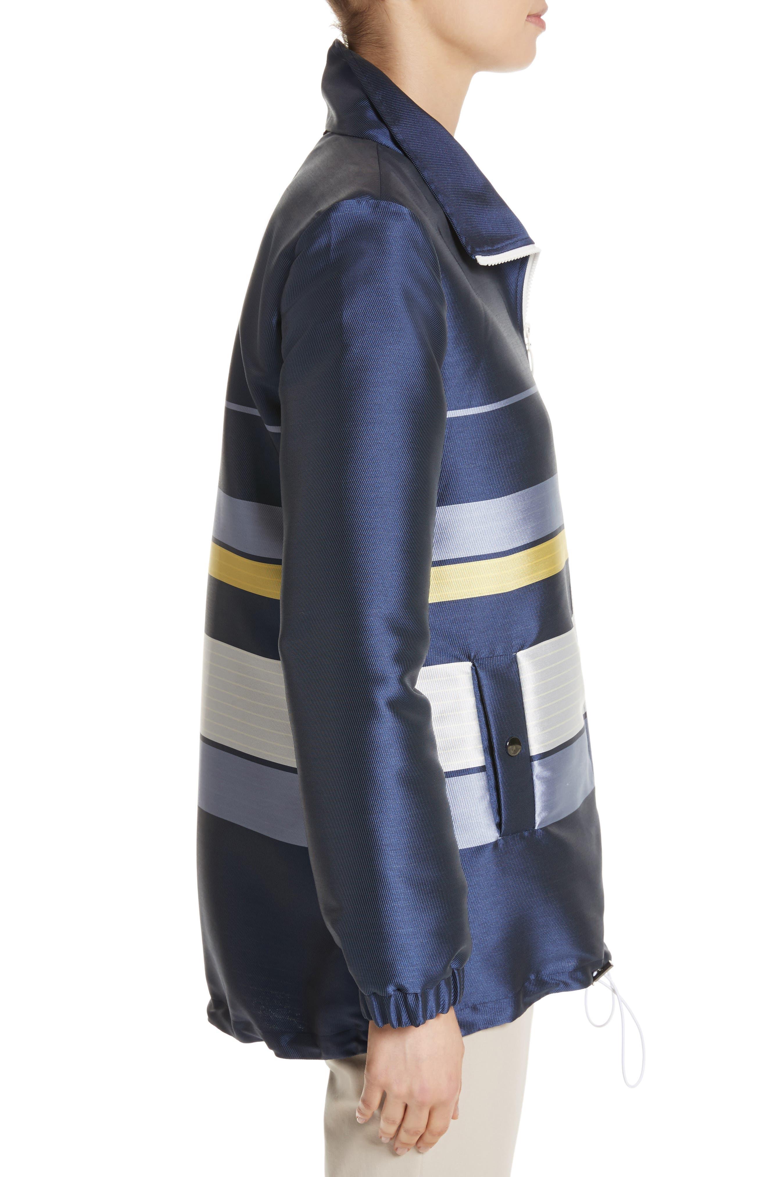 Double Face Stripe Twill Jacket,                             Alternate thumbnail 3, color,                             420
