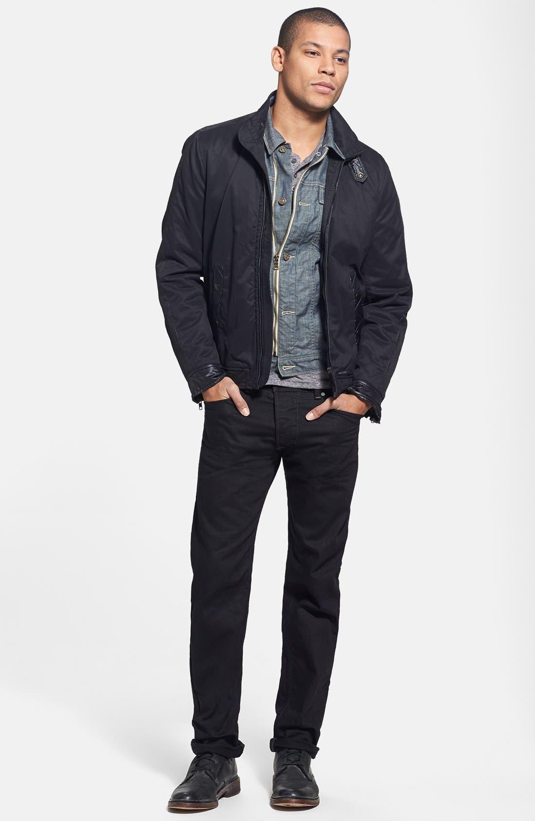 'Darron' Slim Fit Jeans,                             Alternate thumbnail 4, color,                             001