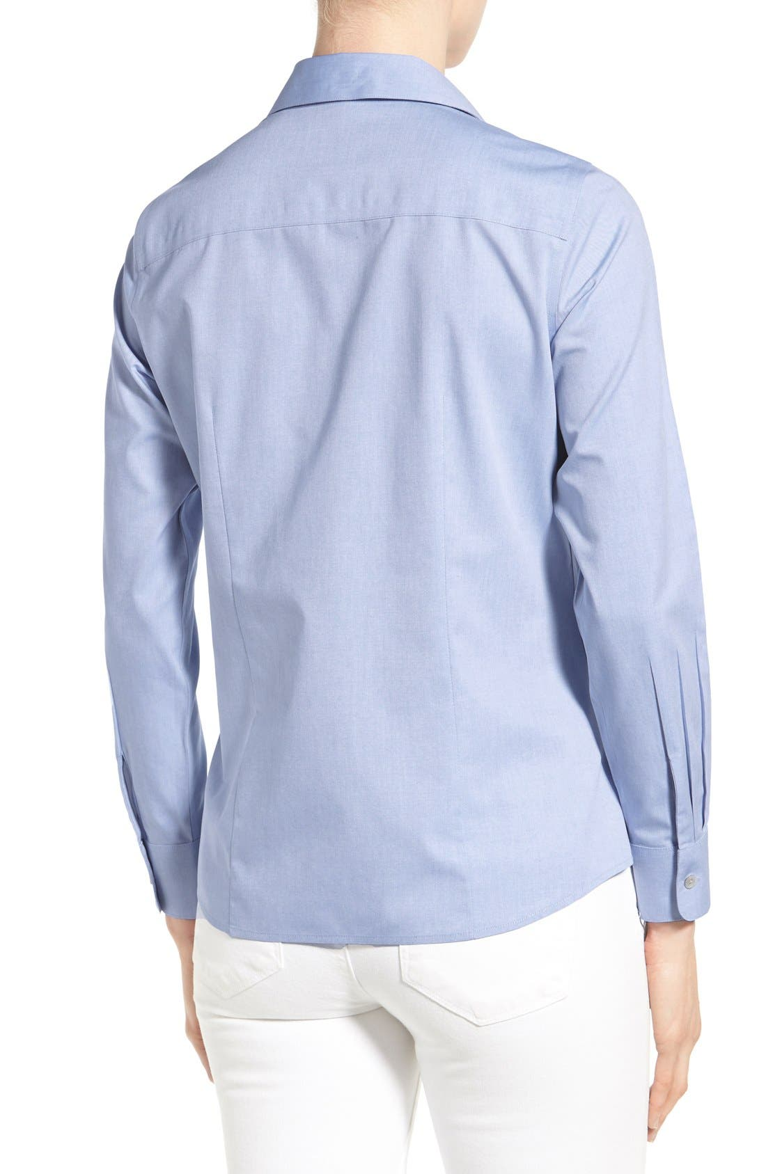 Non-Iron Fitted Shirt,                             Alternate thumbnail 8, color,