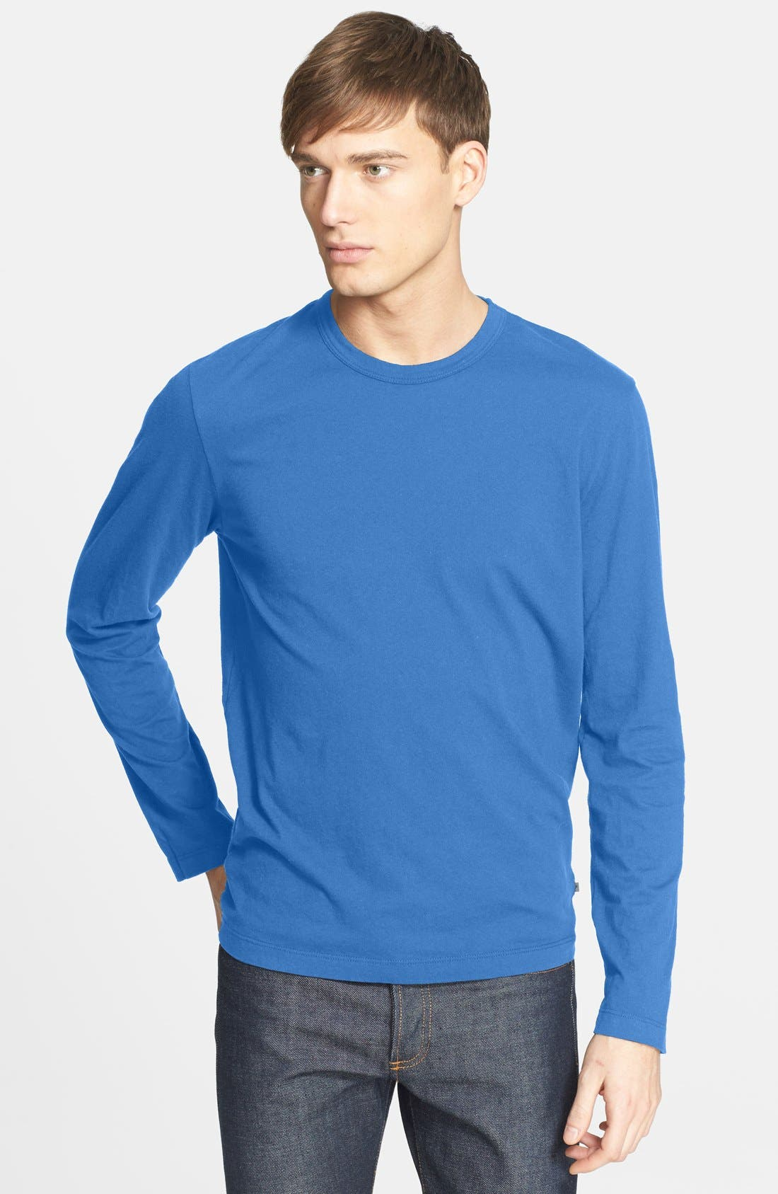 Long Sleeve Crewneck T-Shirt,                             Main thumbnail 25, color,