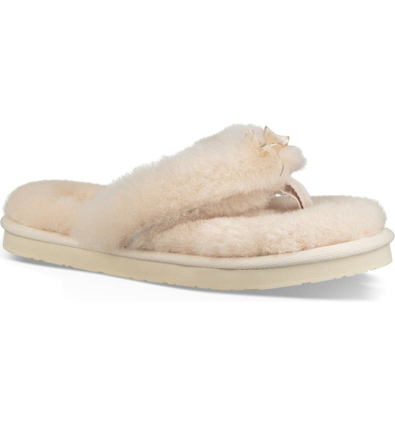 27a8d555fc6 Enjoy the luxurious feeling of a spa day any day of the week in a decadant  flip-flop wrapped in fluffy genuine shearling. A foam-cushioned footbed  adds ...