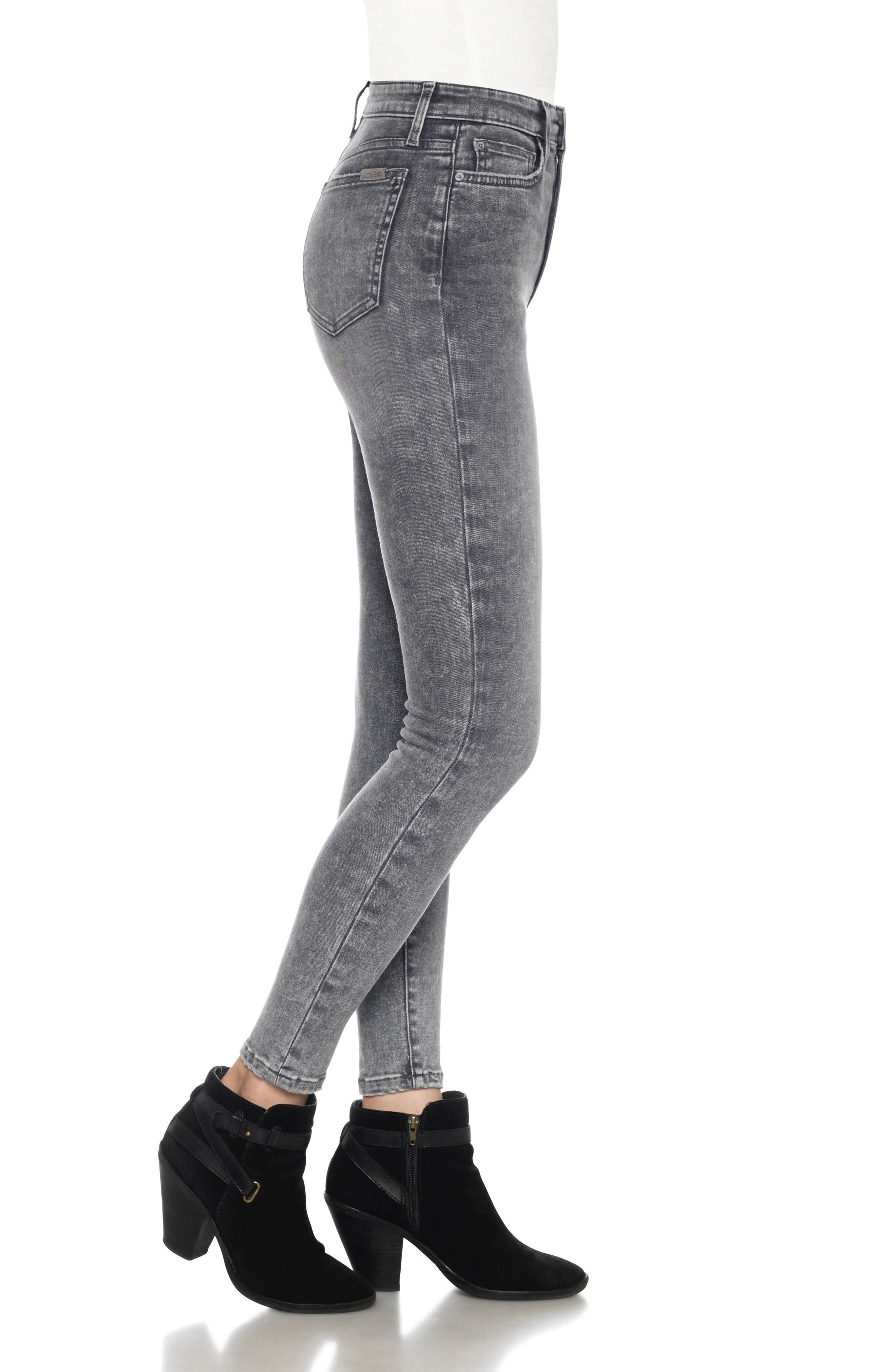 Flawless - Charlie High Waist Ankle Skinny Jeans,                             Alternate thumbnail 3, color,                             052
