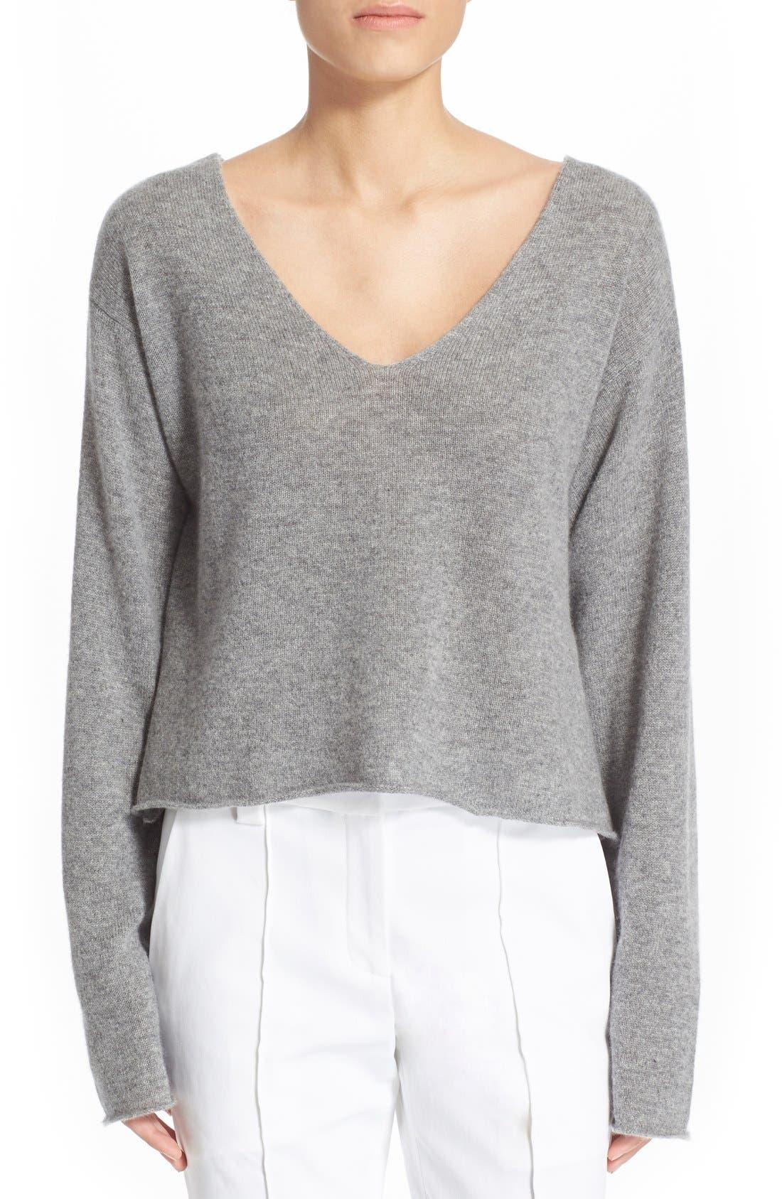 'Martin' Cashmere Crop Sweater,                             Main thumbnail 1, color,                             020