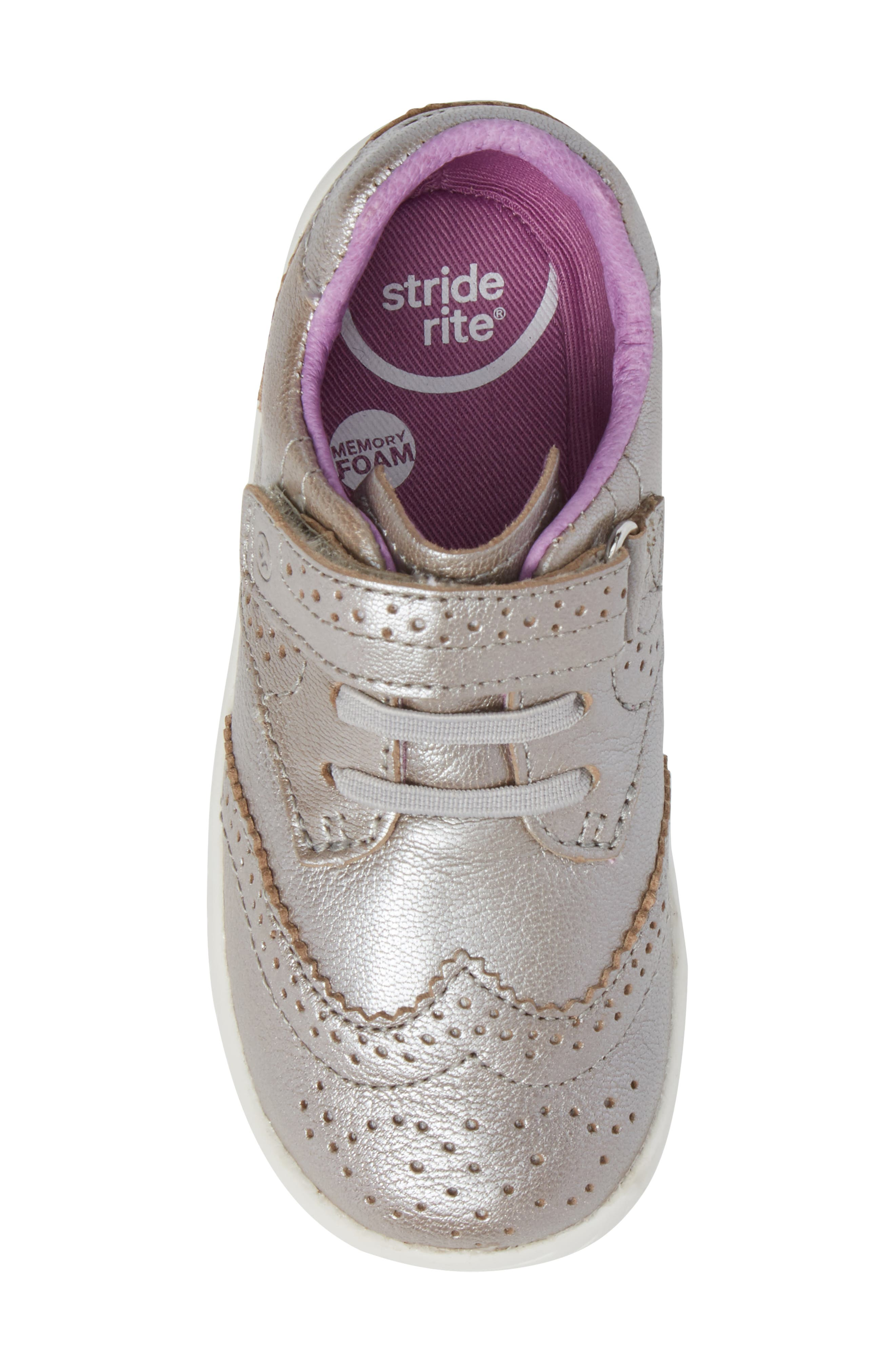 Addison Metallic Wingtip Sneaker,                             Alternate thumbnail 5, color,                             040