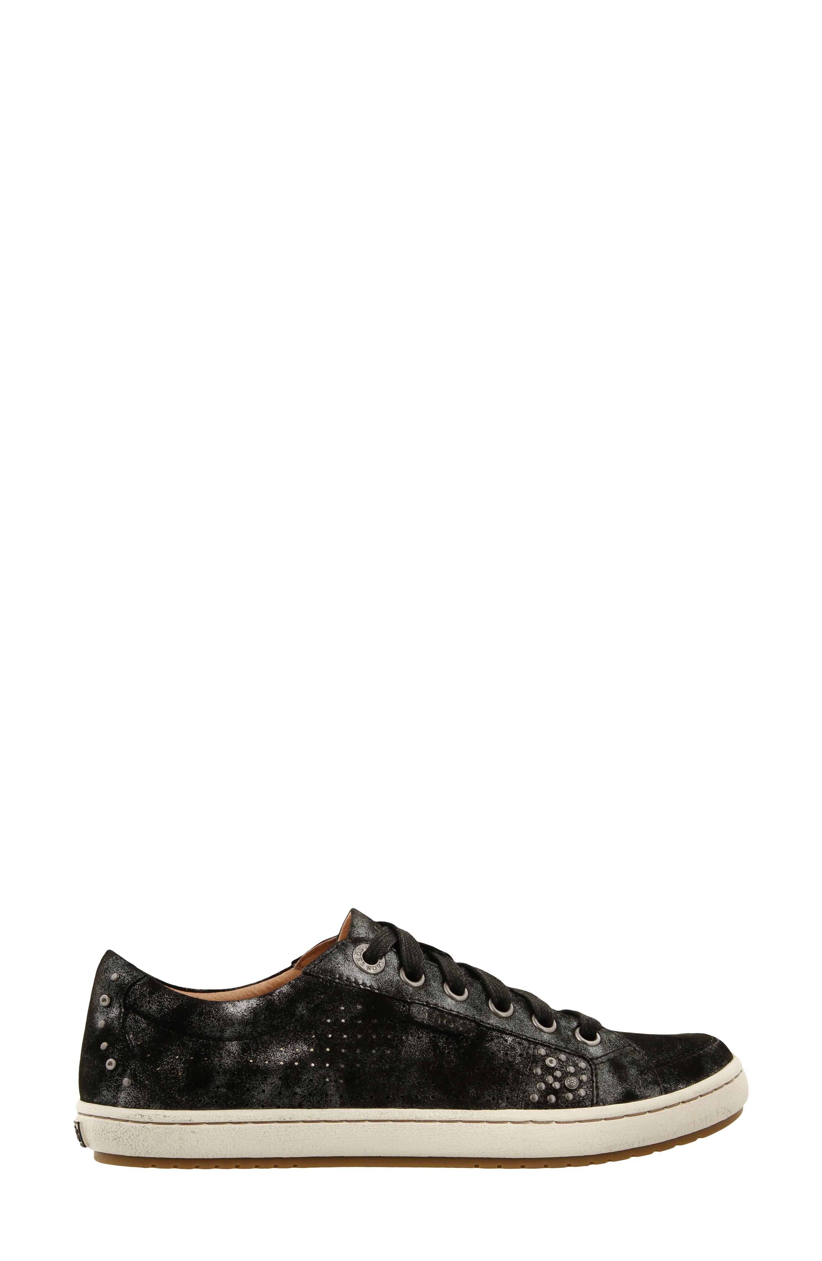 'Freedom' Sneaker,                             Alternate thumbnail 3, color,                             BLACK METALLIC LEATHER