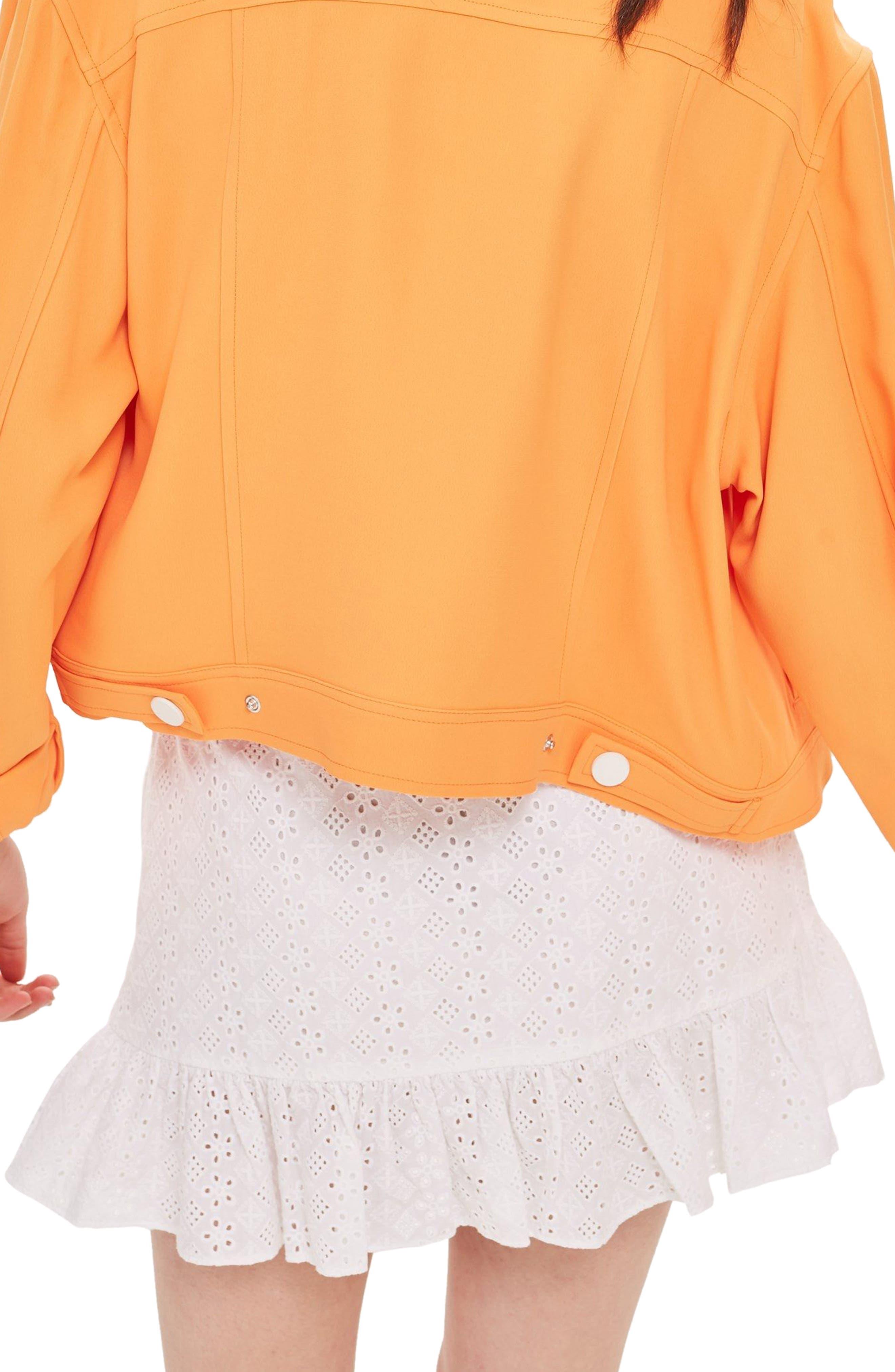 Broderie Ruffle Miniskirt,                             Alternate thumbnail 2, color,                             WHITE