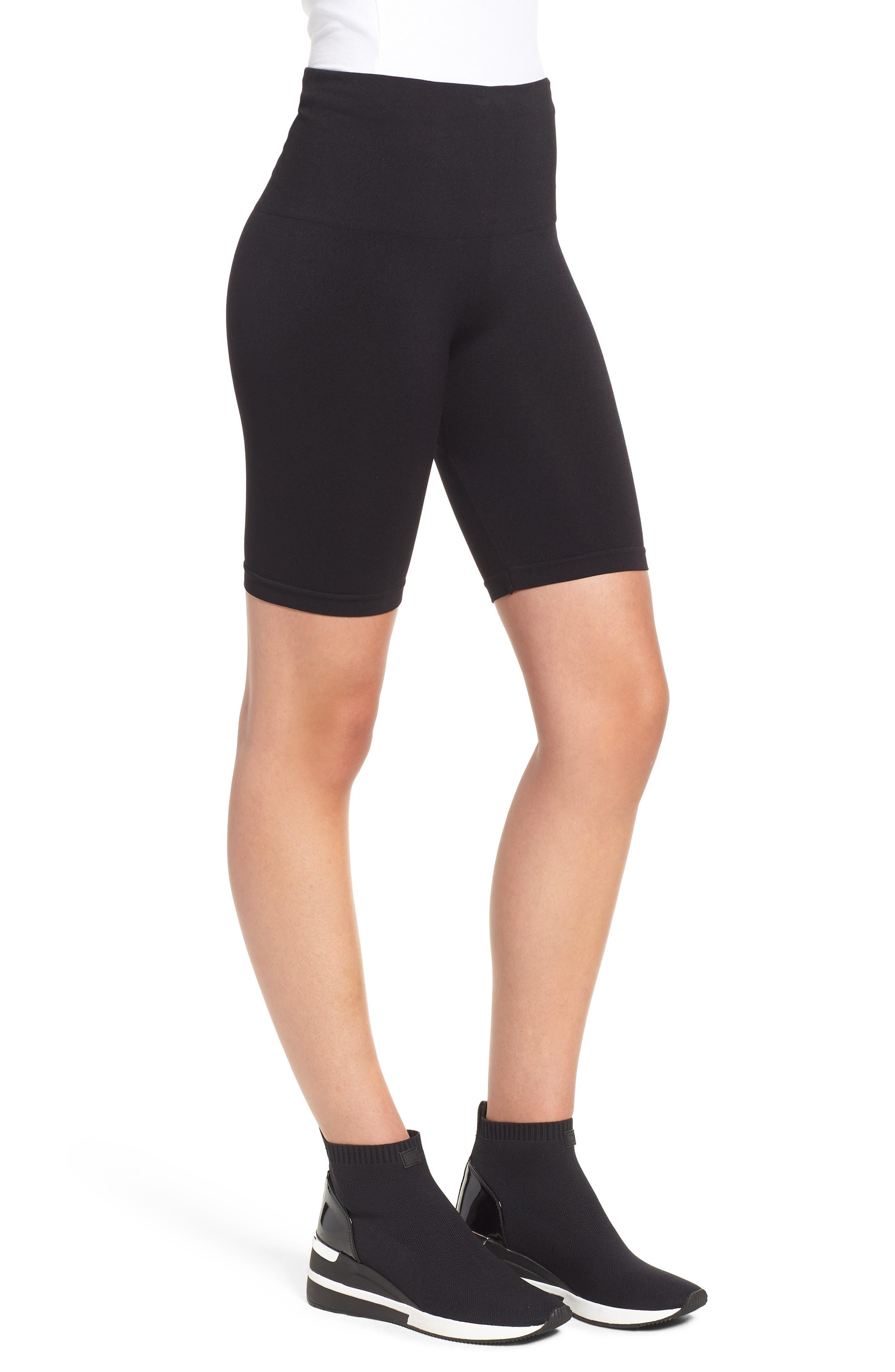 Seamless Bike Shorts,                             Alternate thumbnail 3, color,                             BLACK