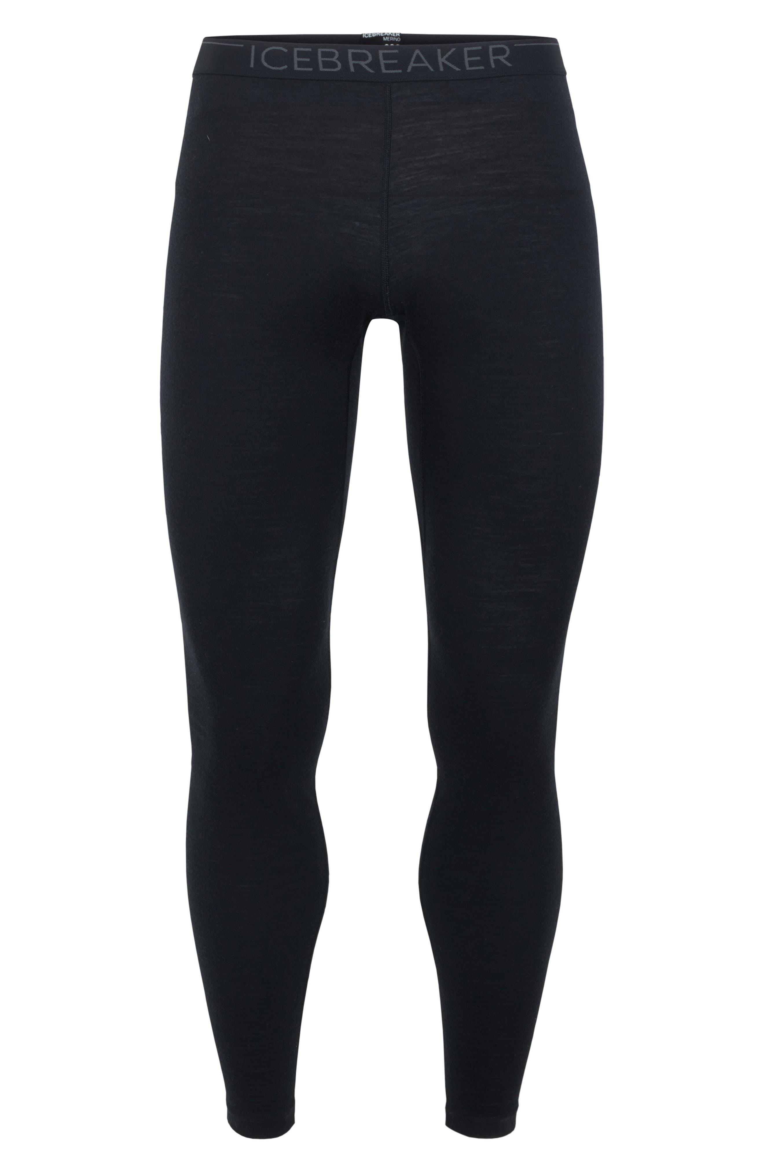Oasis Slim Merino Wool Jersey Base Layer Leggings,                             Alternate thumbnail 6, color,                             BLACK