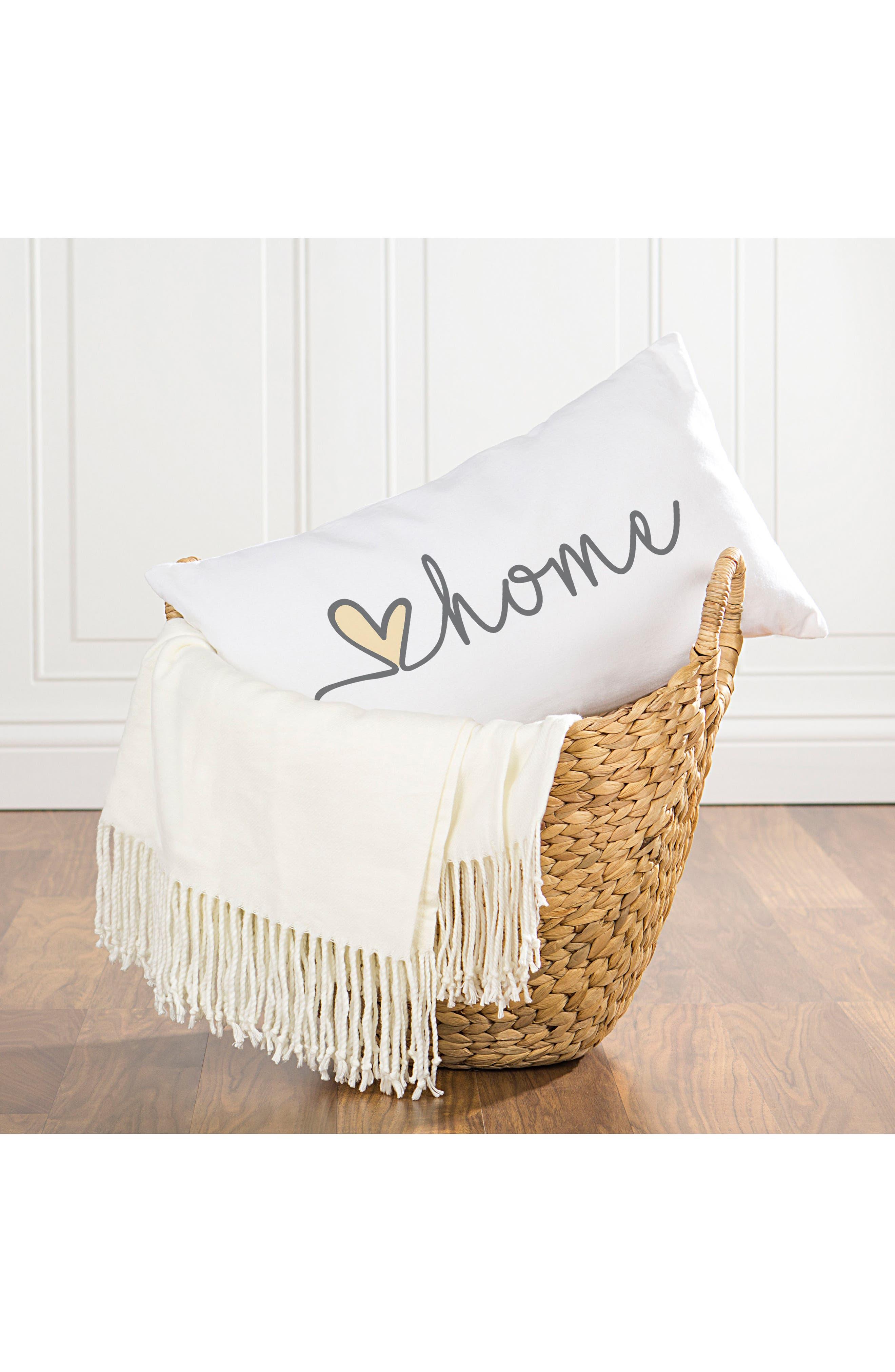 Love Home Lumbar Accent Pillow,                             Alternate thumbnail 2, color,                             GREY