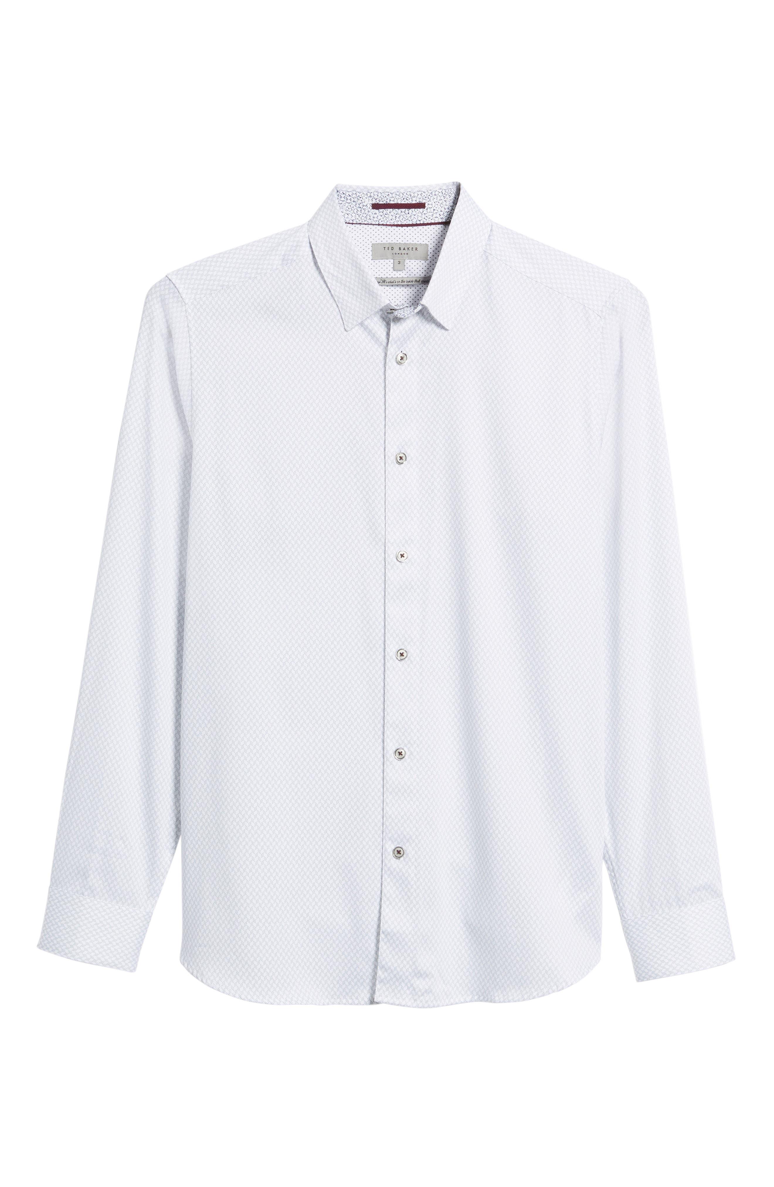 Modern Slim Fit Print Sport Shirt,                             Alternate thumbnail 6, color,                             110