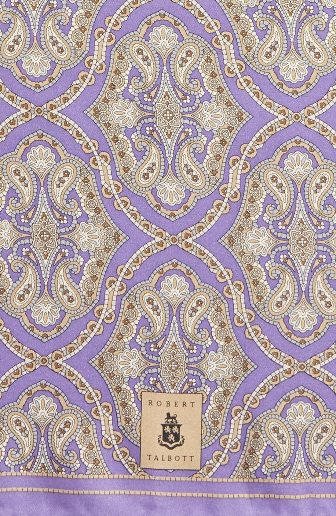 Medallion Silk Pocket Square,                             Alternate thumbnail 17, color,