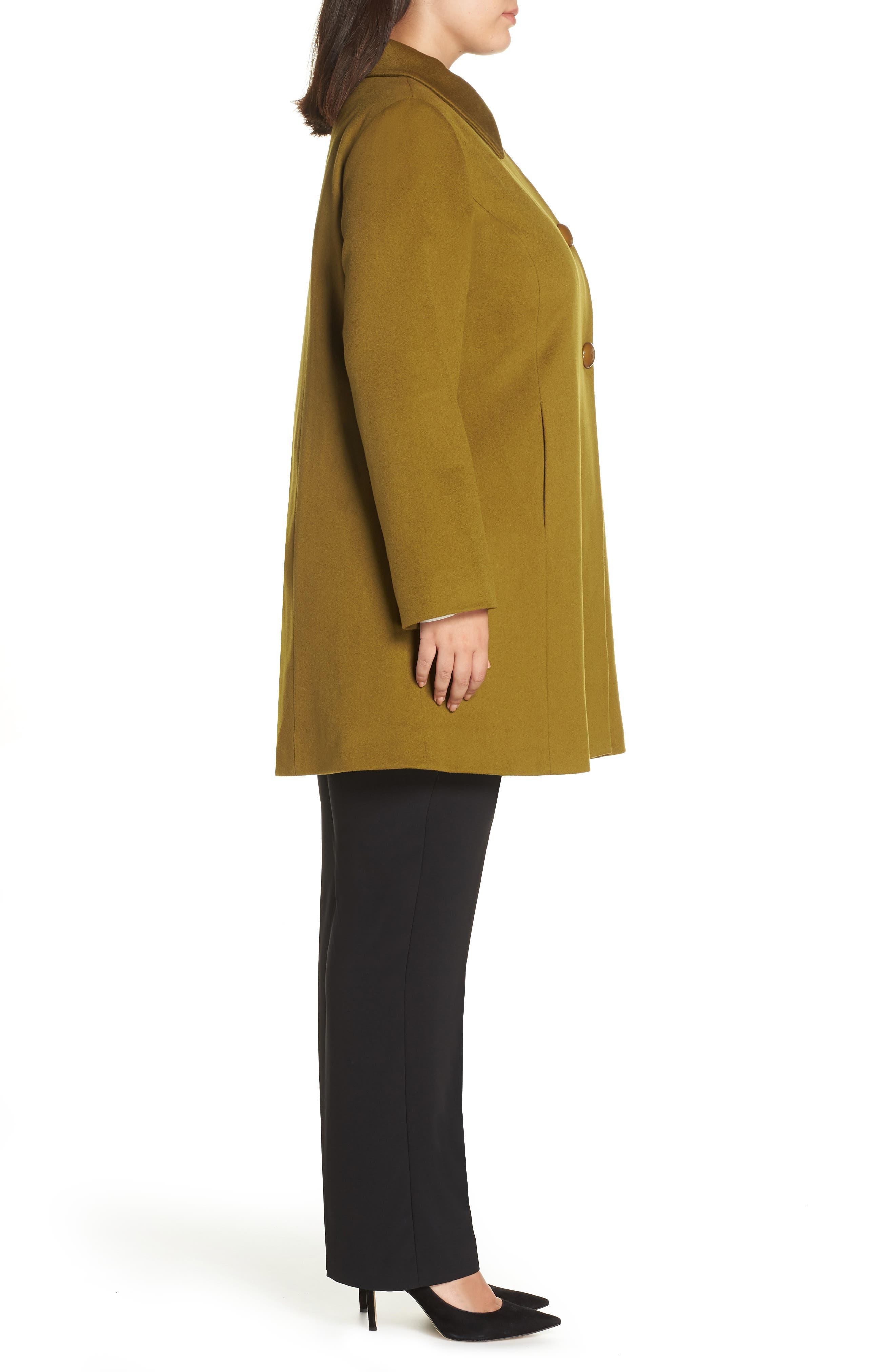 FLEURETTE,                             Loro Piana Wool Car Coat,                             Alternate thumbnail 3, color,                             305
