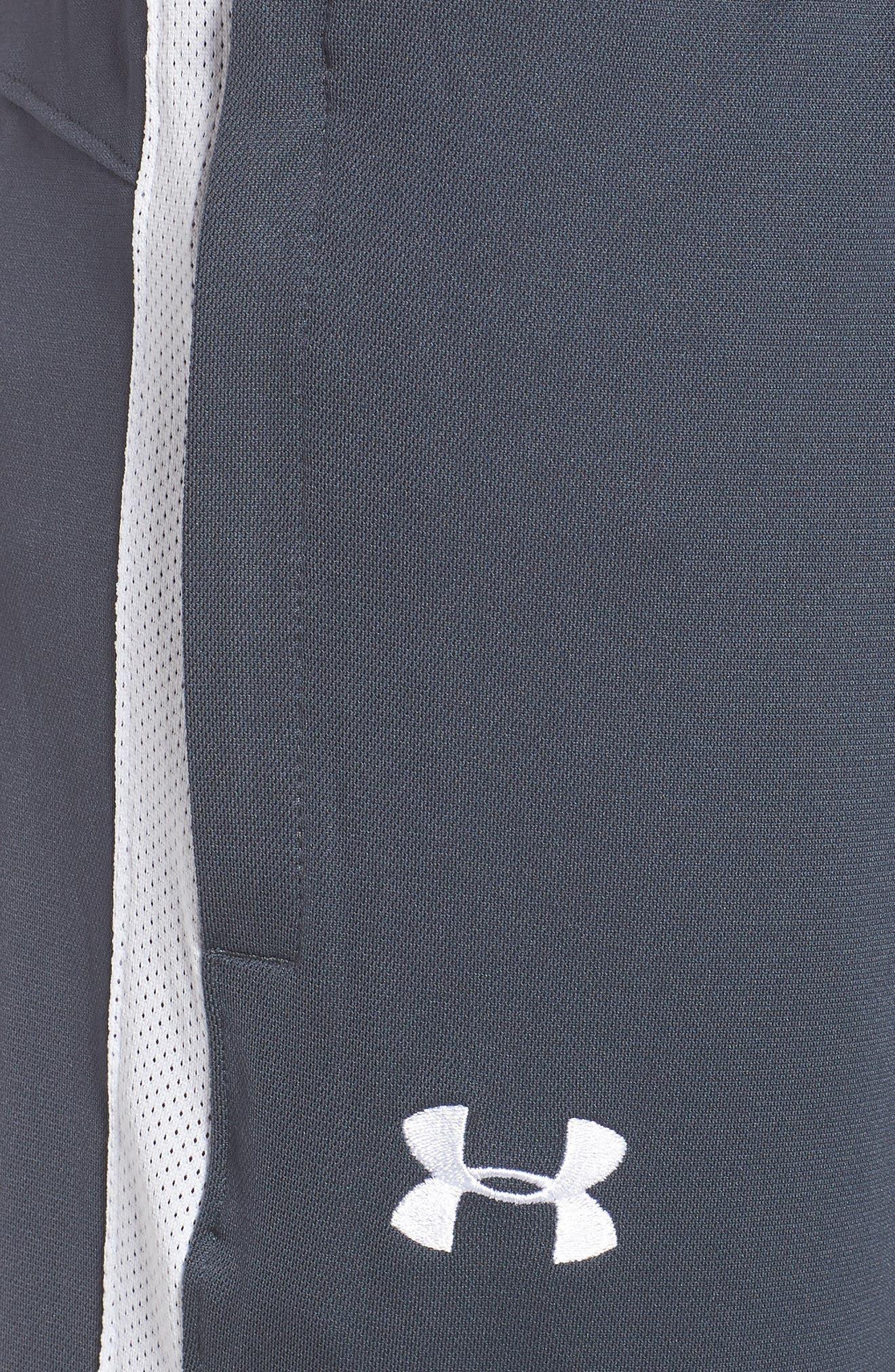 Sportstyle Slim Piqué Track Pants,                             Alternate thumbnail 4, color,                             STEALTH GRAY / / WHITE