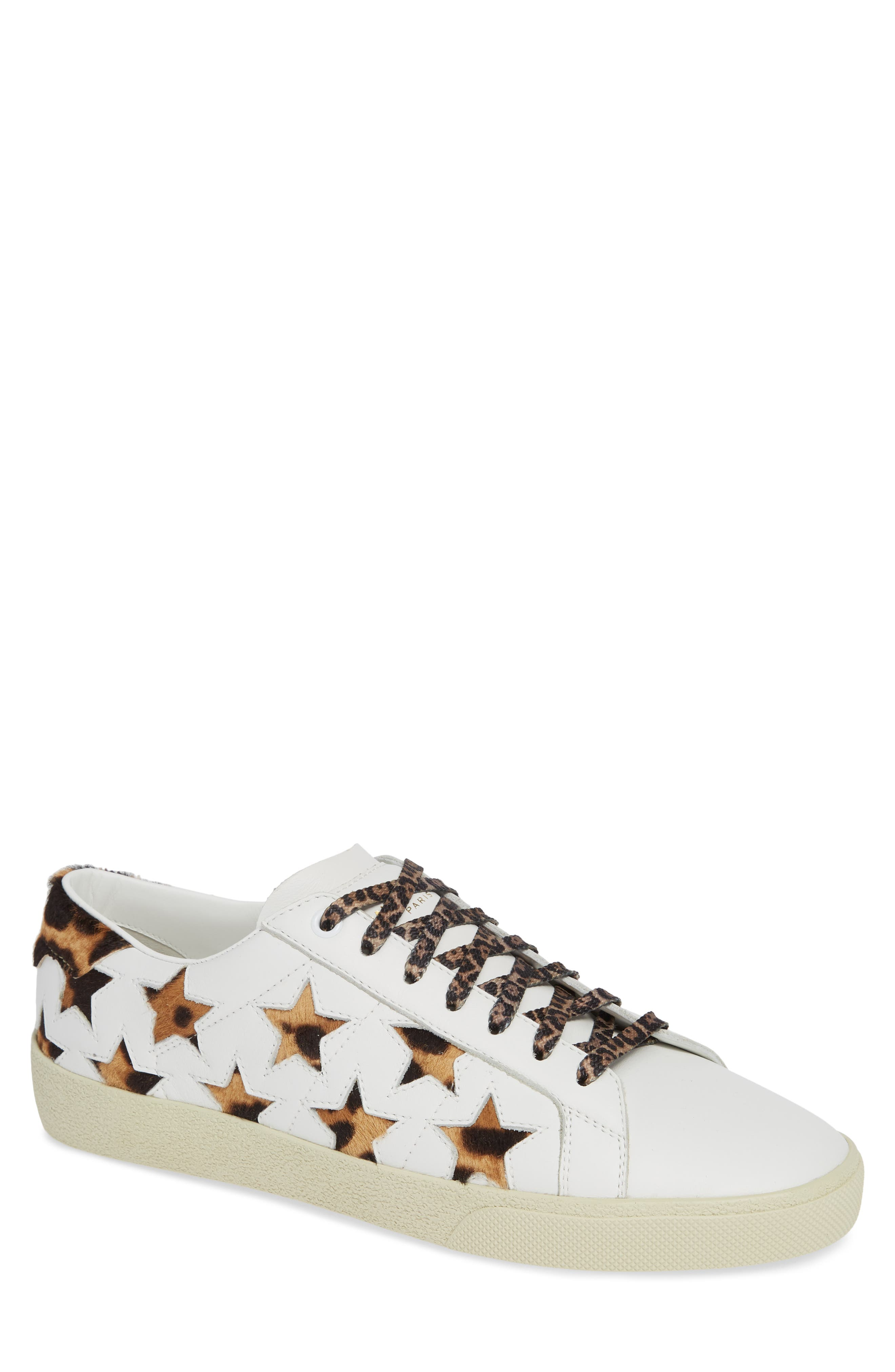 SL06 Genuine Calf Hair Sneaker,                         Main,                         color, BLANC OPTIQUE/ CHAD