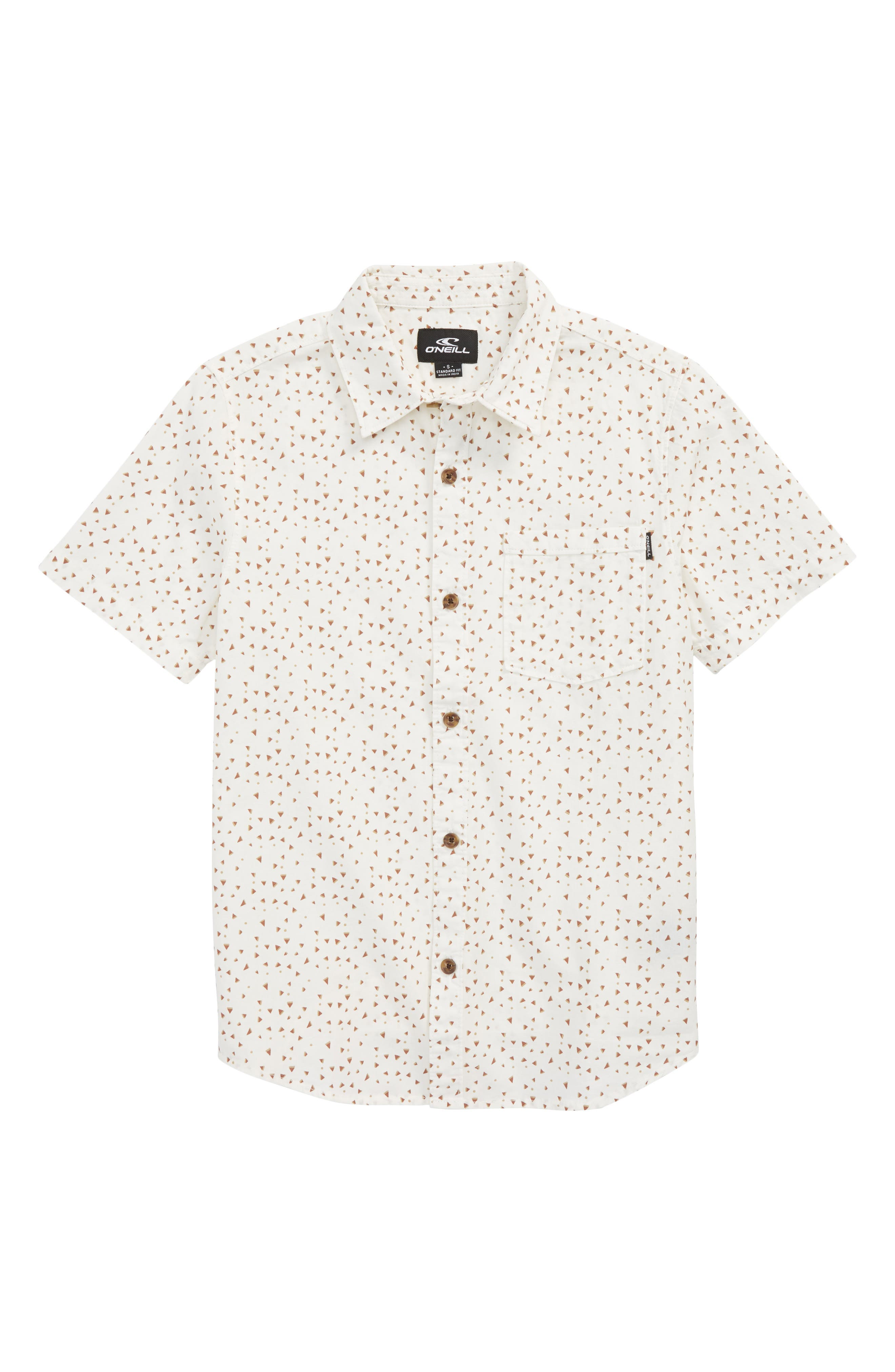 Rowdy Print Woven Shirt,                         Main,                         color, 100