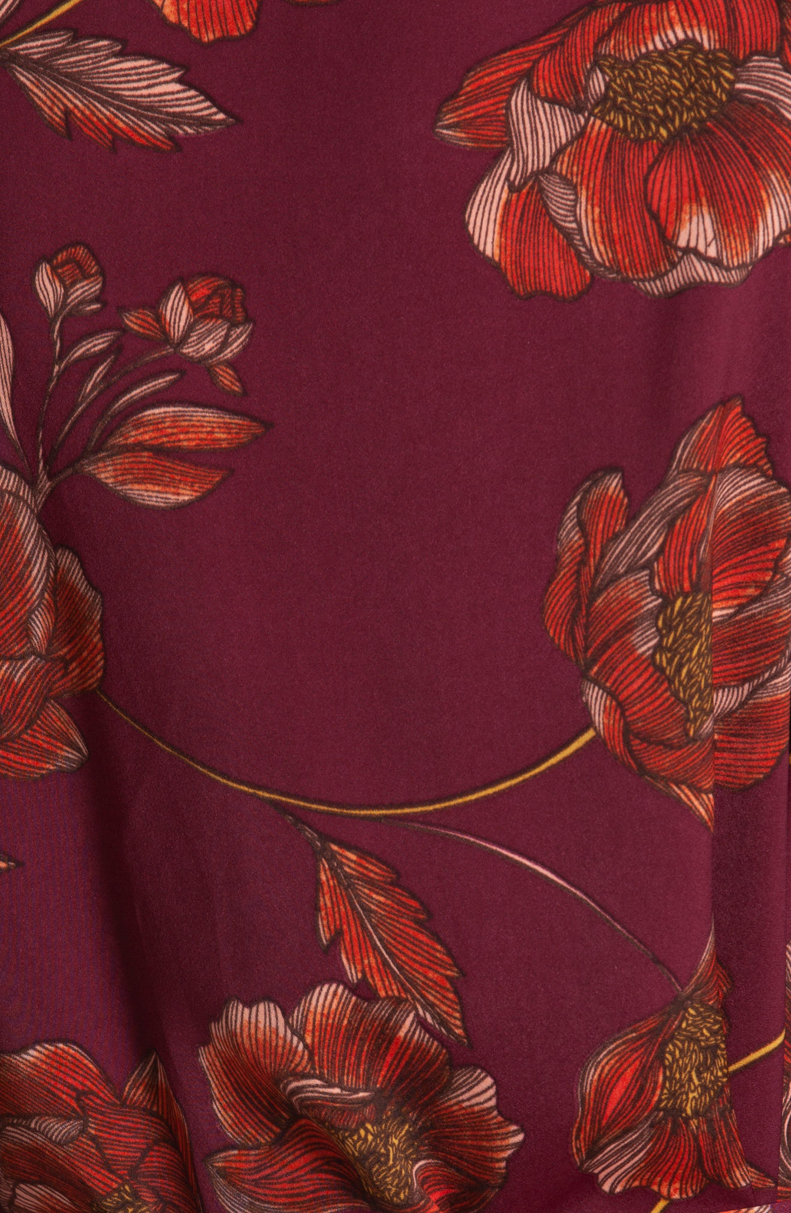 Austin Floral Robe,                             Alternate thumbnail 4, color,                             PLUM