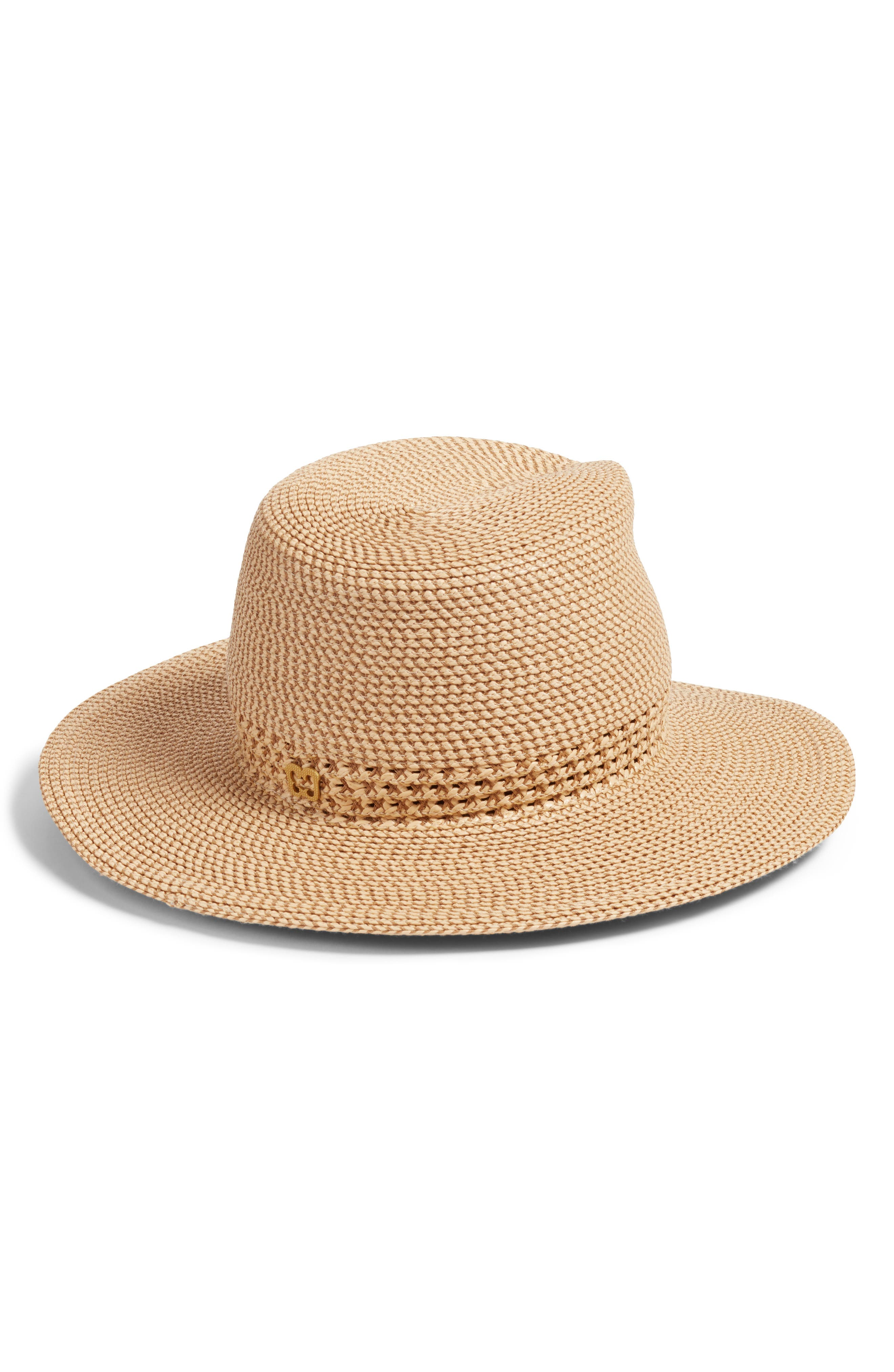 Bayou Packable Squishee<sup>®</sup> Fedora,                             Alternate thumbnail 2, color,                             PEANUT