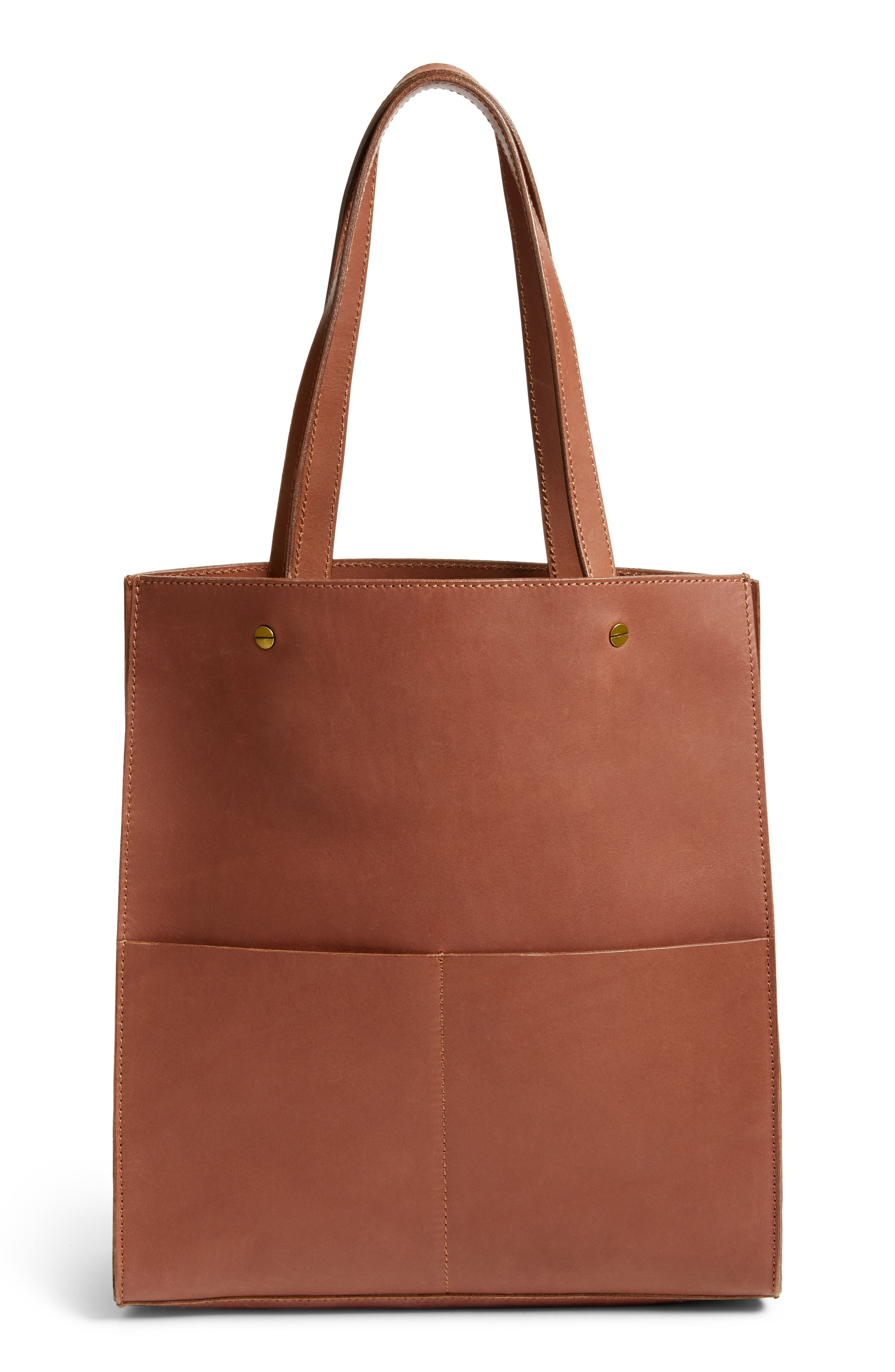 The Passenger Convertible Leather Tote,                             Main thumbnail 3, color,