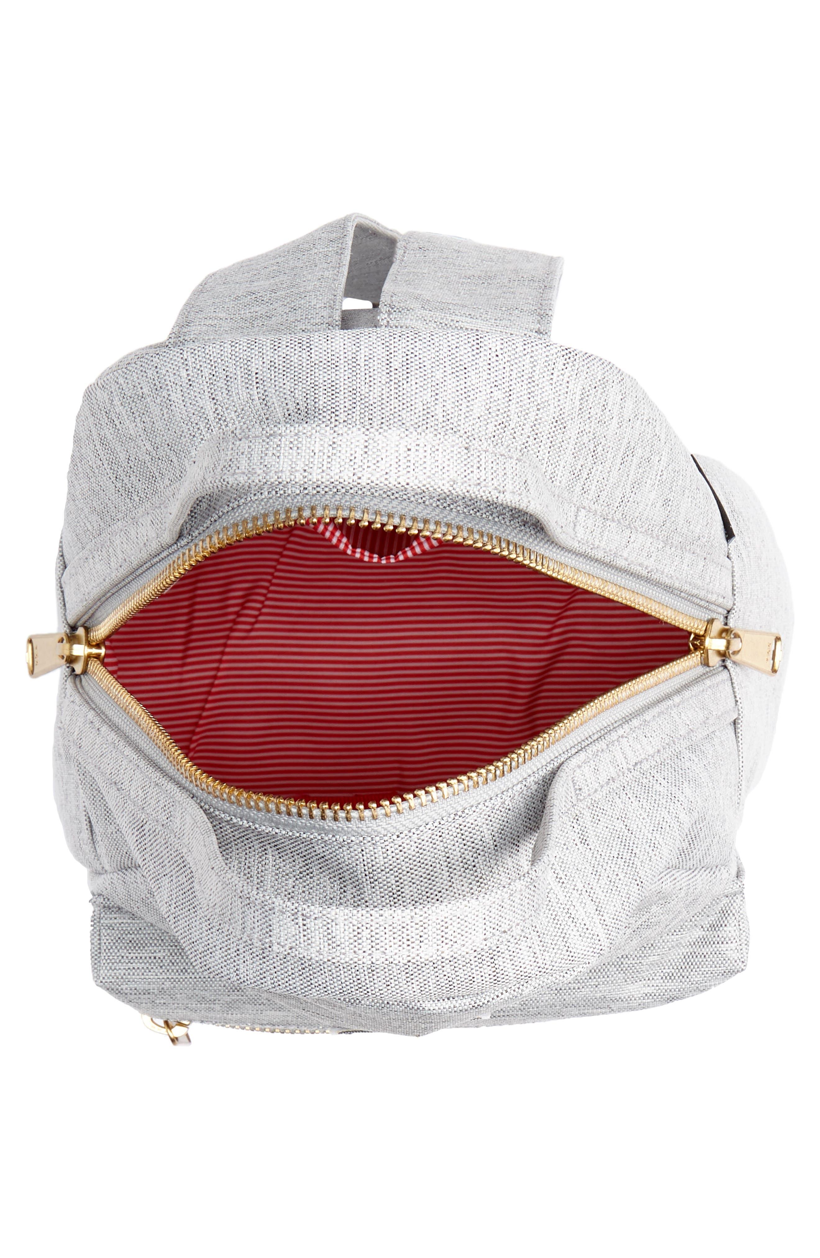 Mini Nova Backpack,                             Alternate thumbnail 4, color,                             LIGHT GREY CROSSHATCH
