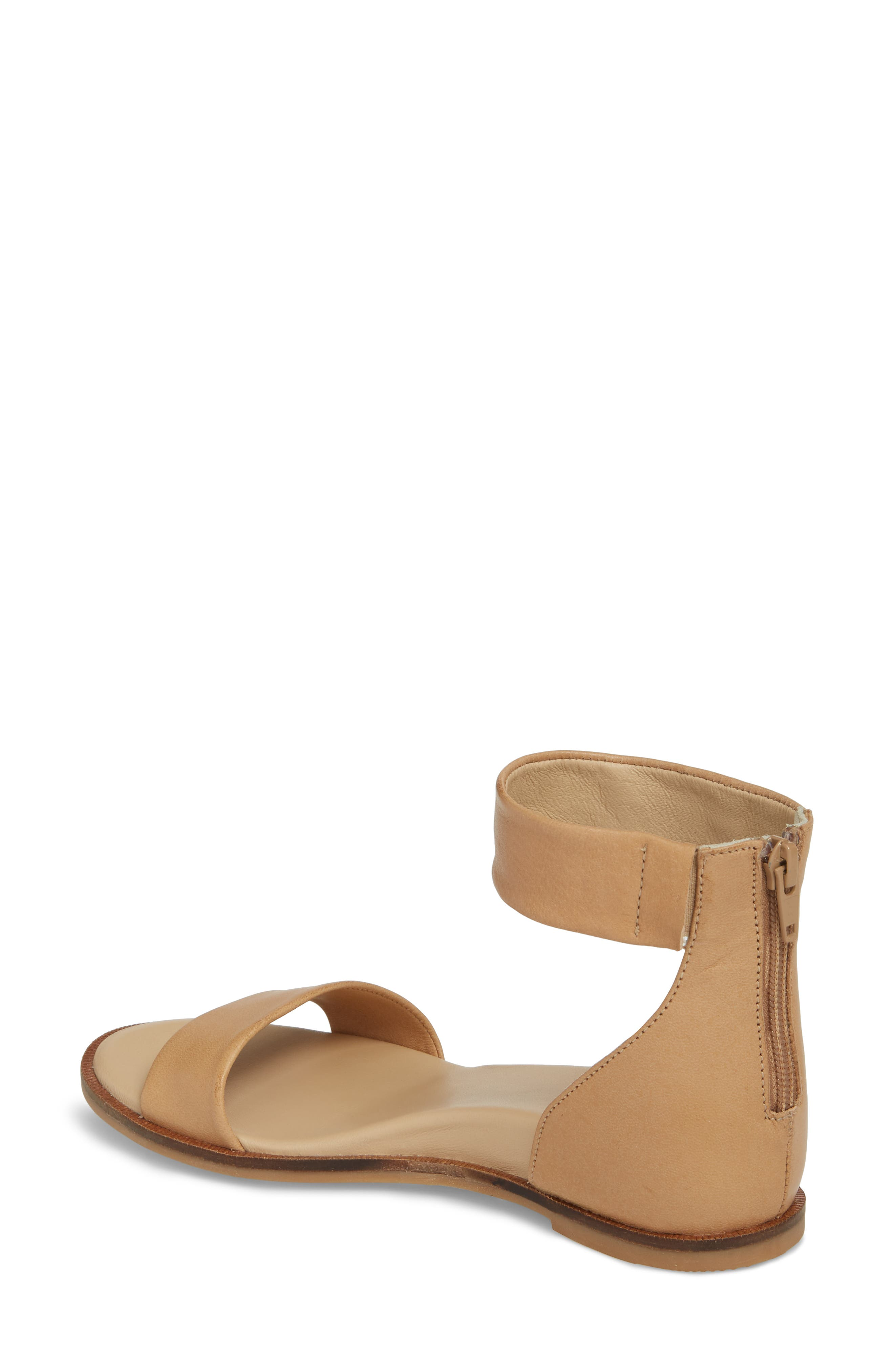 Ankle Strap Sandal,                             Alternate thumbnail 2, color,                             VACCHETTA LEATHER