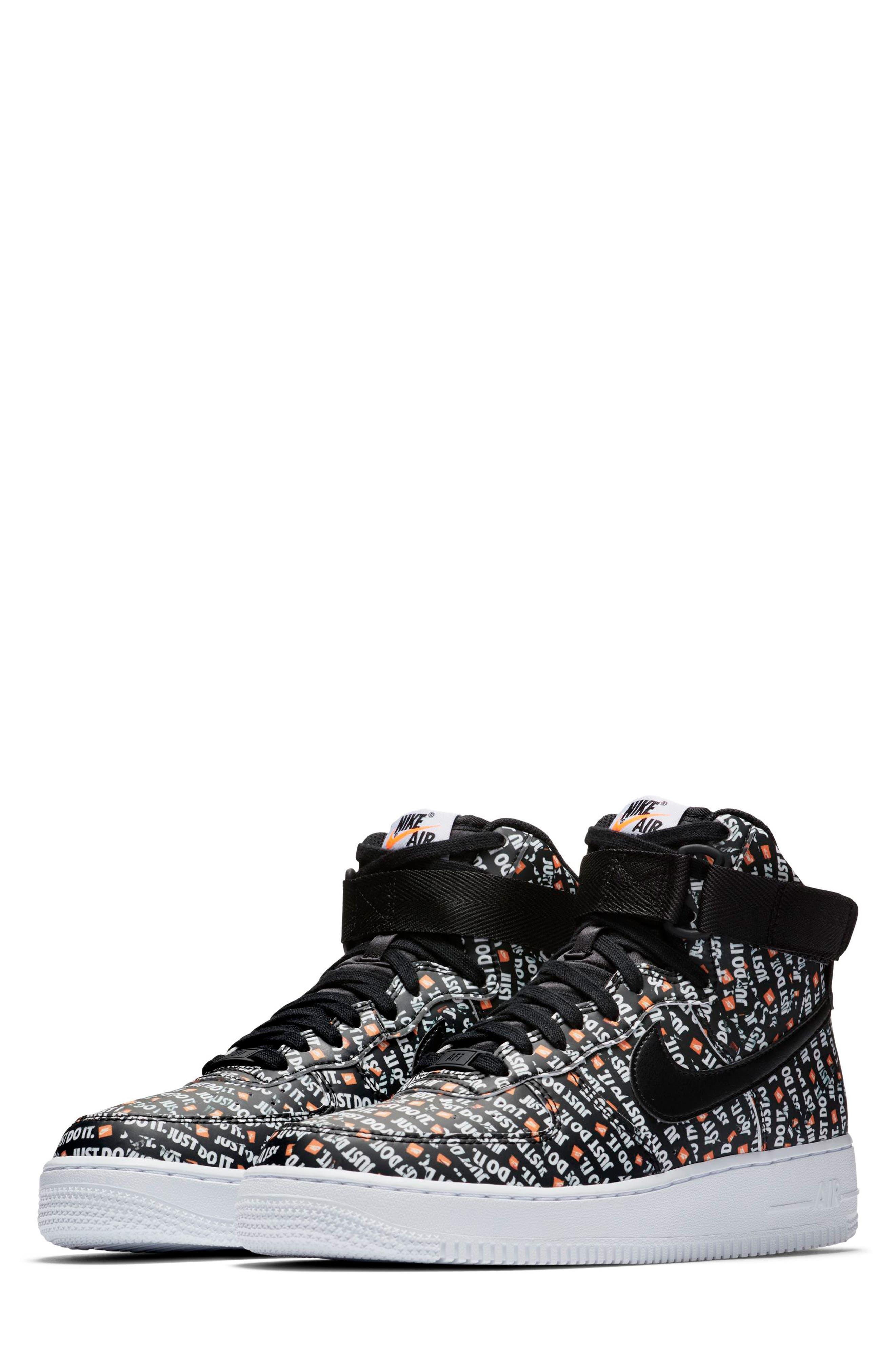 Air Force 1 High LX High Top Sneaker,                         Main,                         color, BLACK