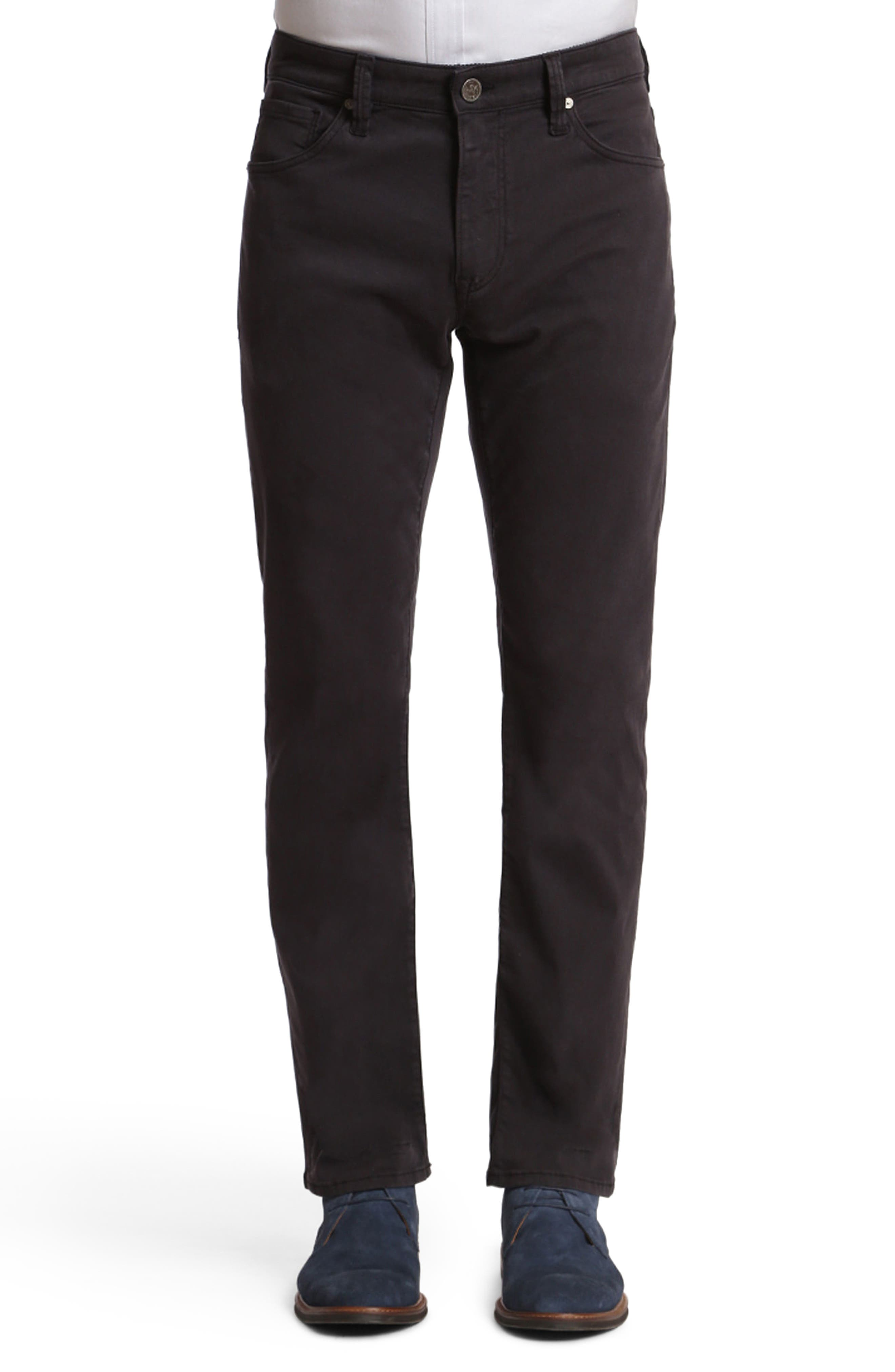 Courage Straight Leg Twill Pants,                             Main thumbnail 1, color,                             BLUE-GREY TWILL