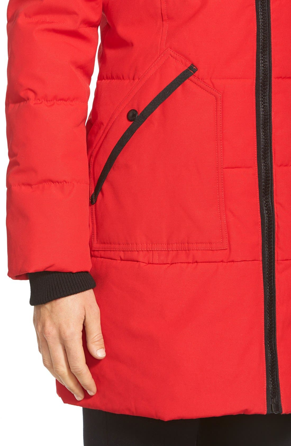 'Expedition' Quilted Parka with Faux Fur Trim,                             Alternate thumbnail 6, color,                             648