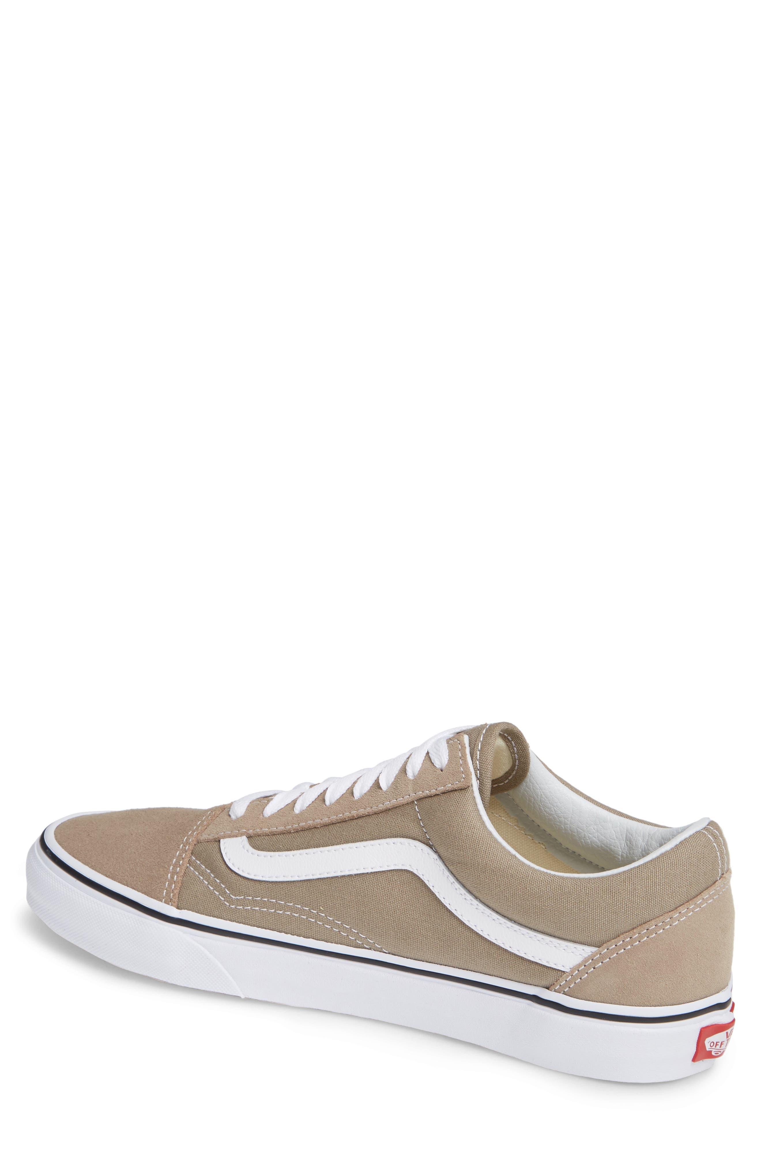 'Old Skool' Sneaker,                             Alternate thumbnail 2, color,                             DESERT TAUPE/ WHITE CANVAS