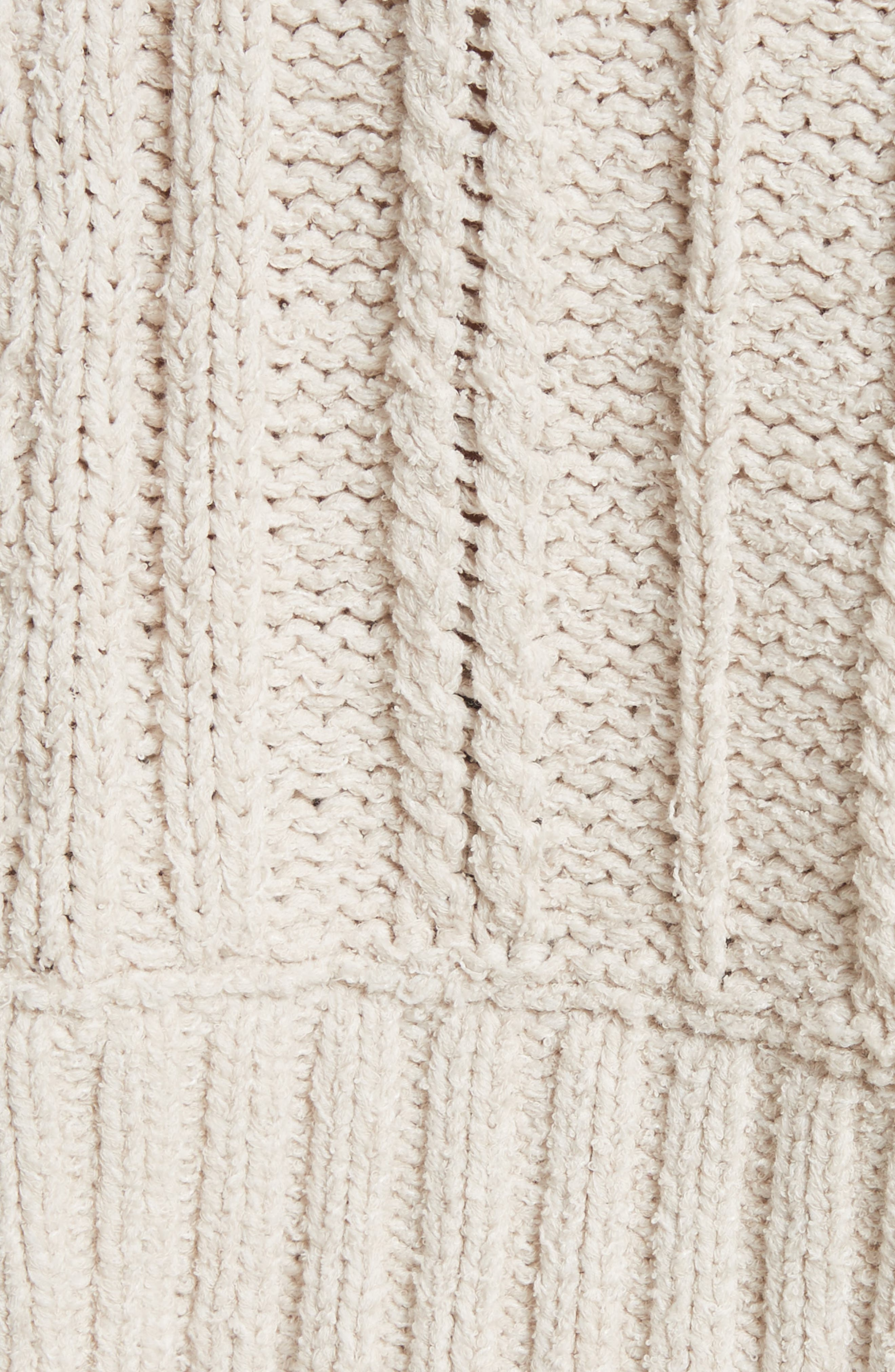 Tierra Cable Knit Hoodie,                             Alternate thumbnail 5, color,                             903
