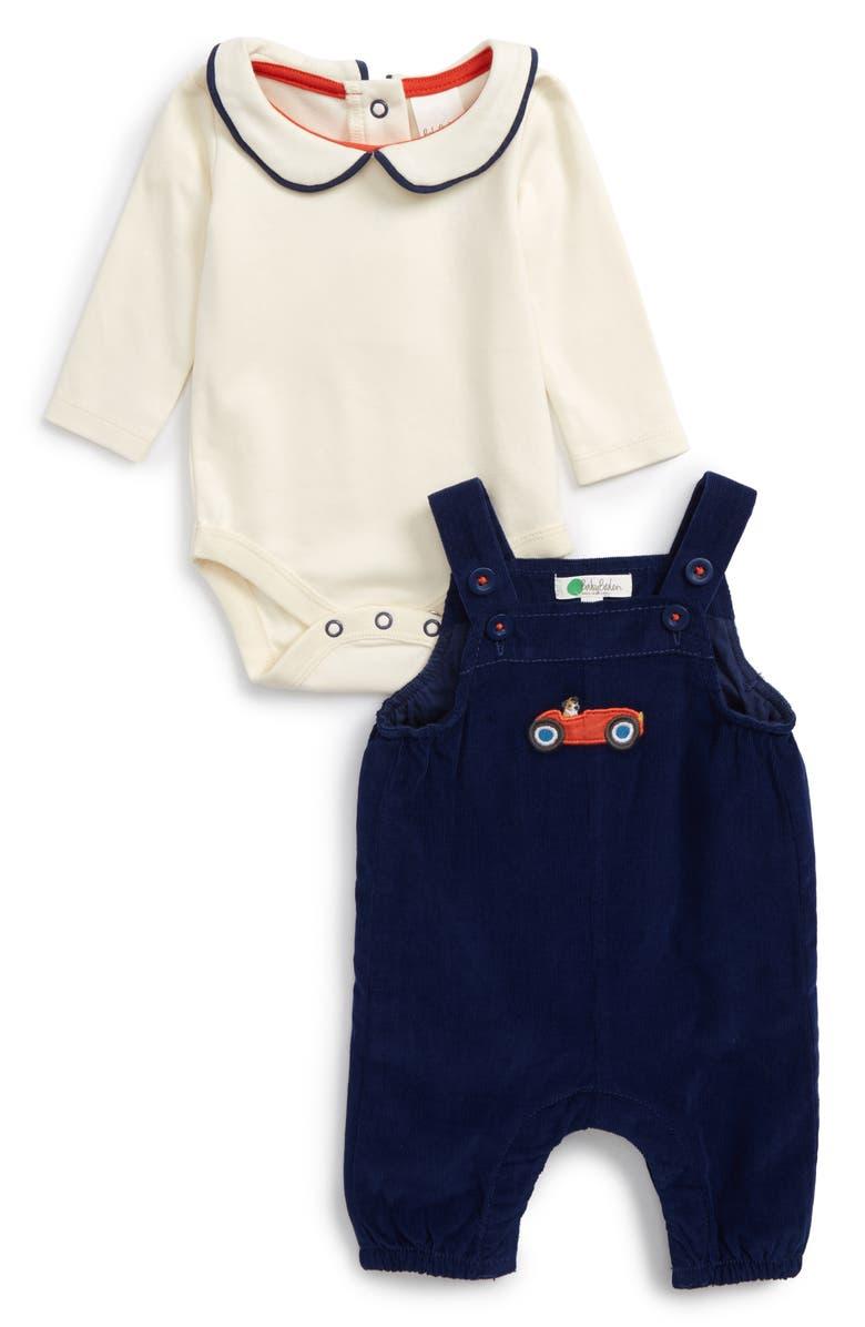 0cc1fa57e19 Mini Boden Nostalgic Overalls Bodysuit Set Baby Boys Nordstrom