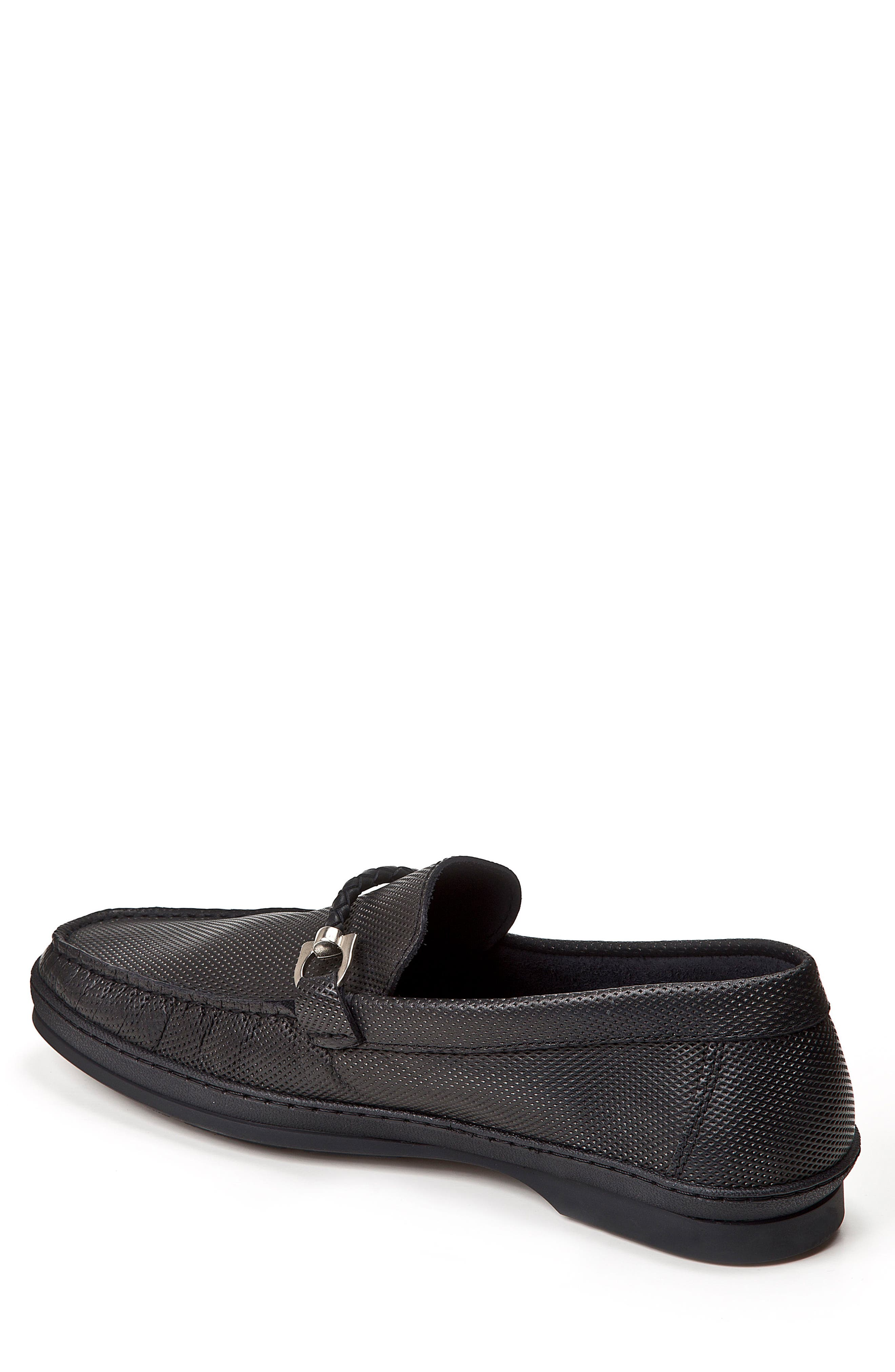 SANDRO MOSCOLONI,                             Benito Perforated Moc Toe Loafer,                             Alternate thumbnail 2, color,                             001