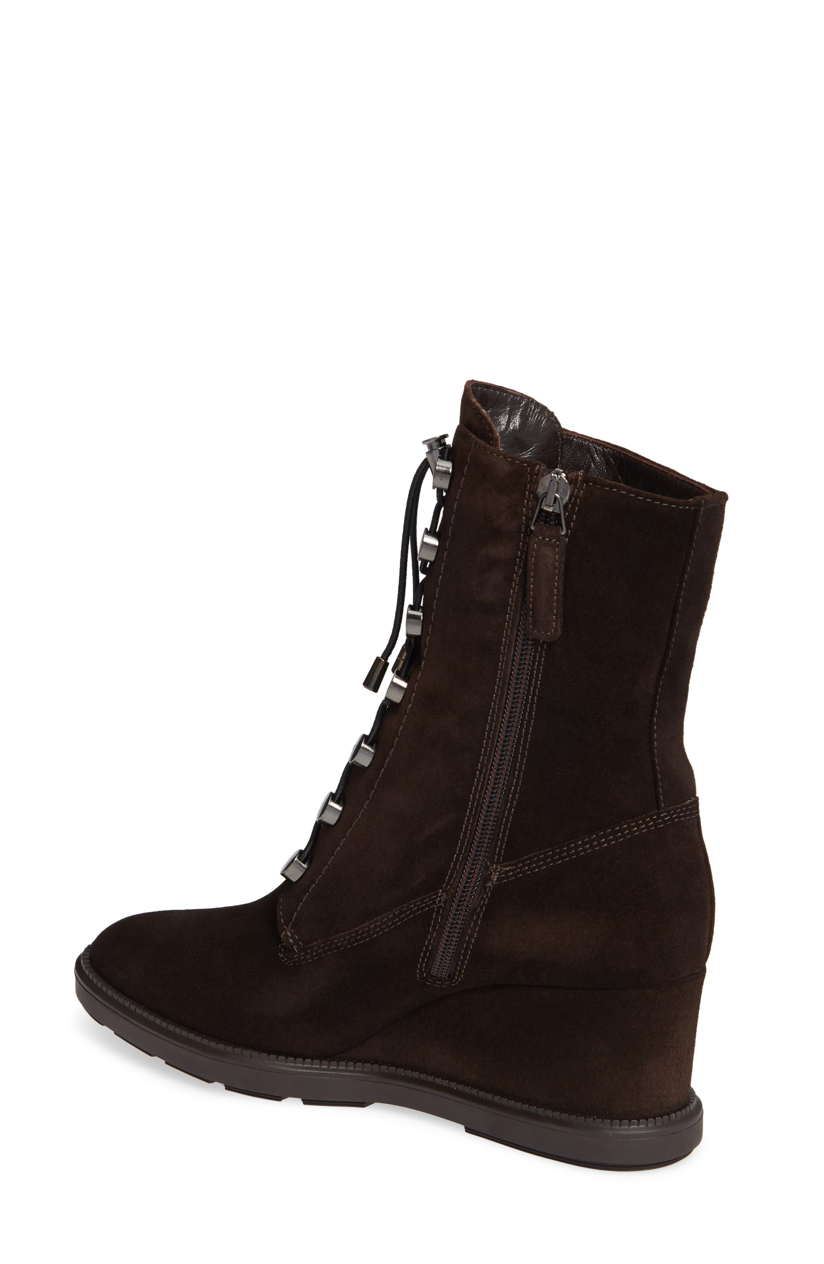 Campbell Wedge Boot,                             Alternate thumbnail 2, color,                             ESPRESSO SUEDE
