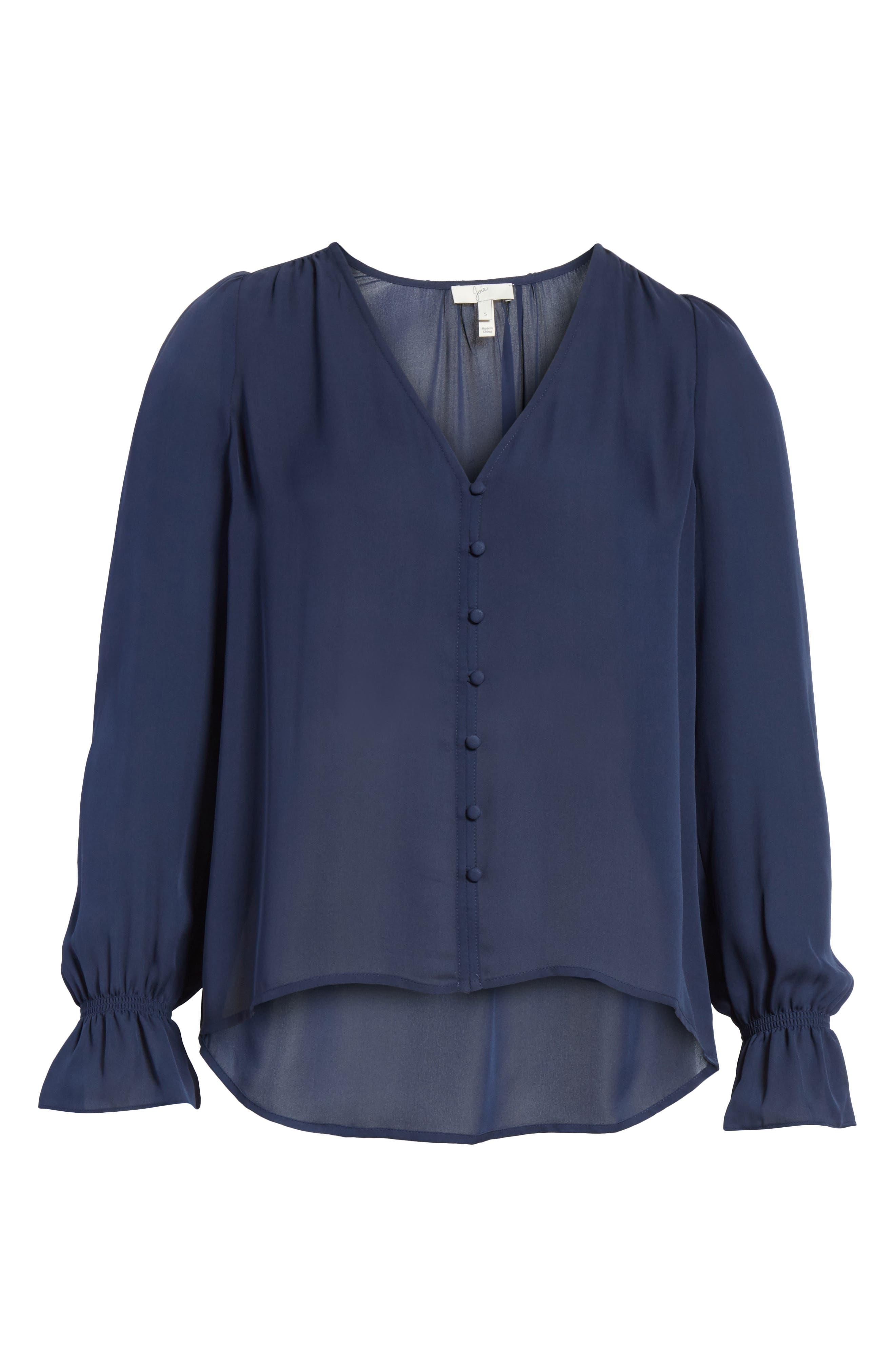 Bolona Silk Gathered Sleeve Top,                             Alternate thumbnail 6, color,                             410