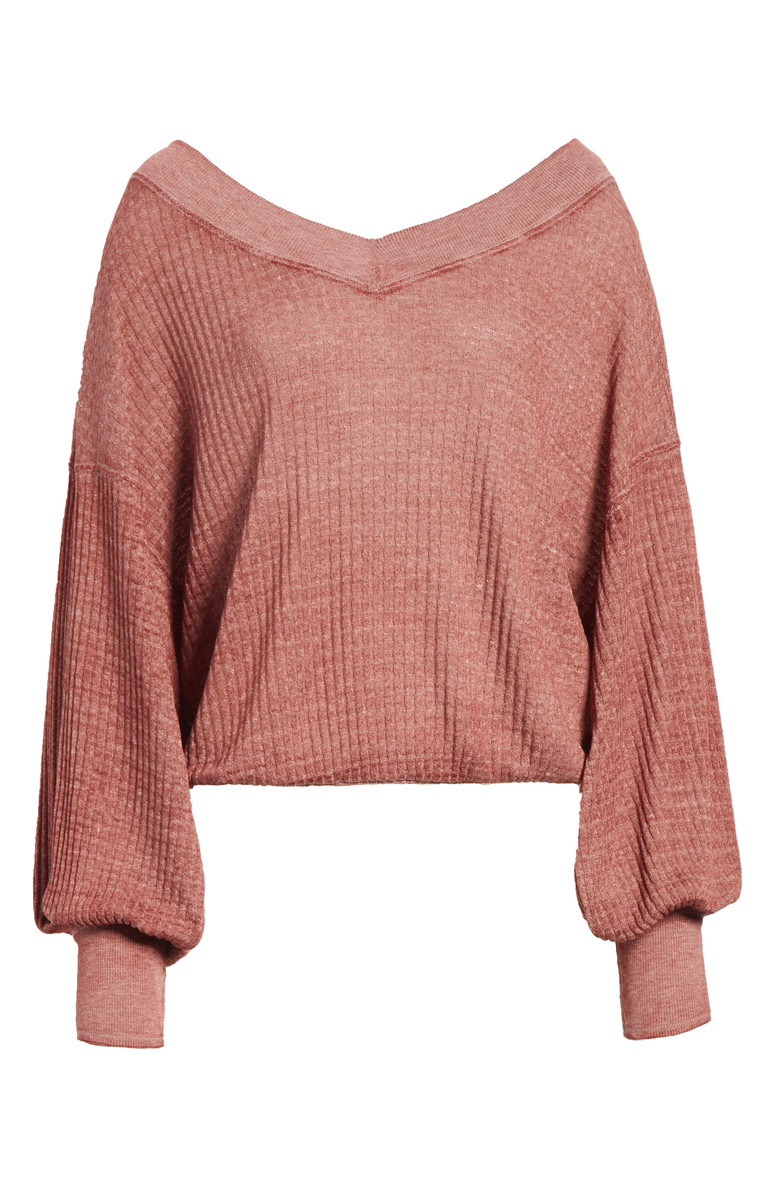 We the Free by Free People South Side Thermal Top,                             Alternate thumbnail 6, color,                             CINNAMON