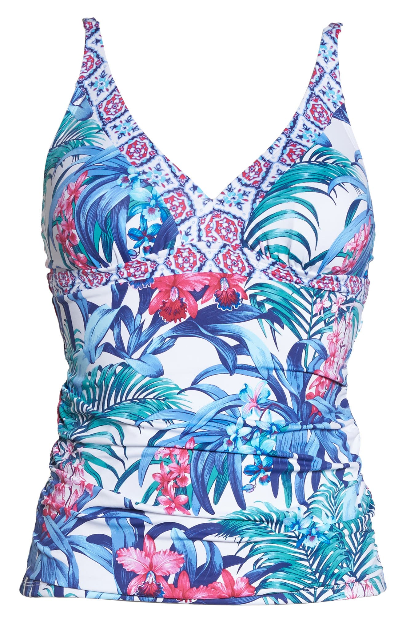 Majorelle Tankini Top,                             Alternate thumbnail 6, color,                             100
