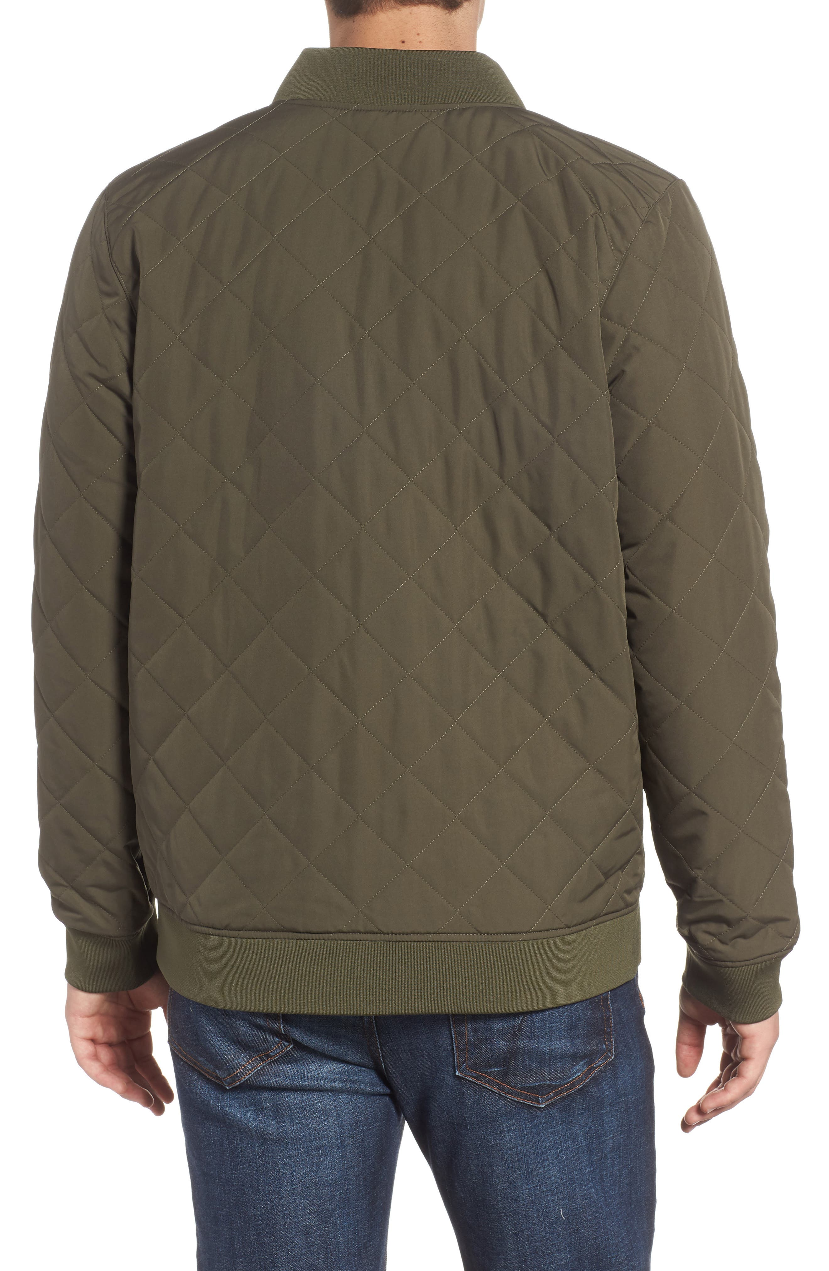 THE NORTH FACE,                             Jester Reversible Bomber Jacket,                             Alternate thumbnail 3, color,                             NEW TAUPE GREEN