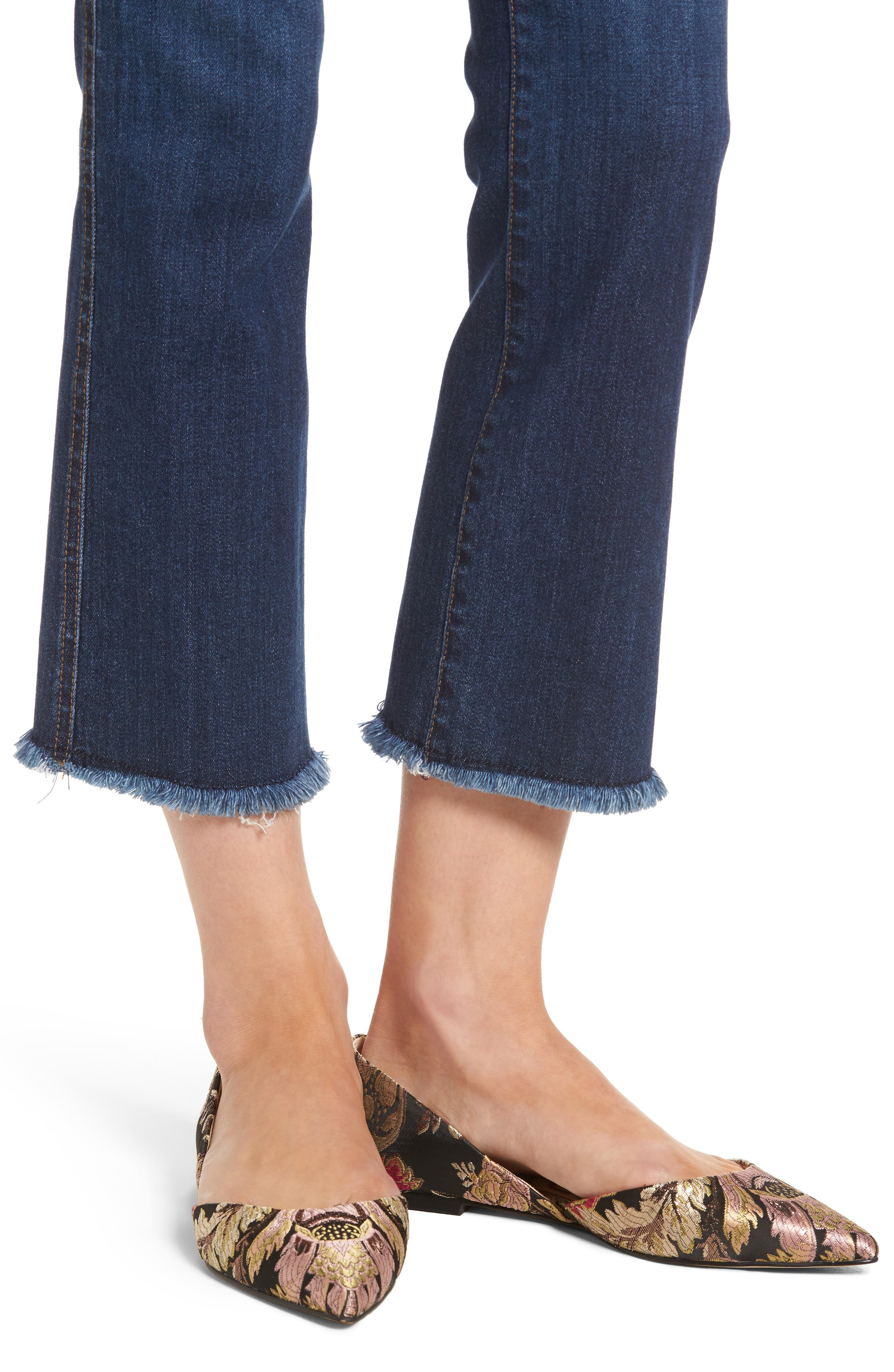 Reese Frayed Ankle Jeans,                             Alternate thumbnail 4, color,                             414